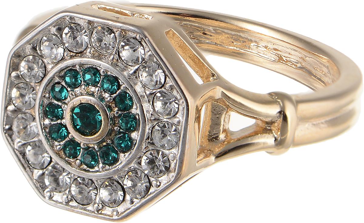 Кольцо Jenavi Изумрудные мечты. Амсто, цвет: золотой, зеленый. h800q030. Размер 16Коктейльное кольцоЭлегантное кольцо Jenavi Изумрудные мечты. Амсто изготовлено из гипоаллергенного ювелирного сплава. Декоративная часть оформлена кристаллами Swarovski. Такое стильное кольцо идеально дополнит ваш образ и подчеркнет вашу индивидуальность.