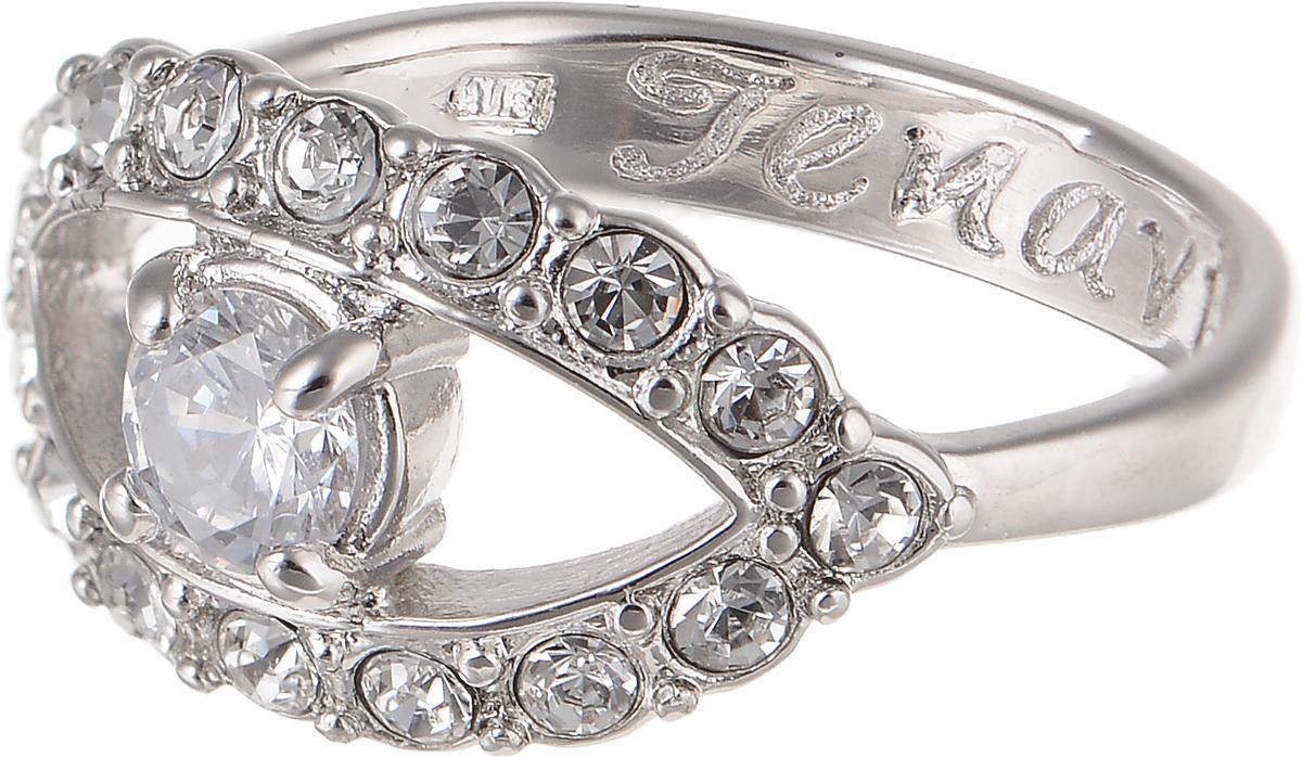 Кольцо Jenavi Teona. Аусесс, цвет: серебряный. f421f0a0. Размер 16Коктейльное кольцоЭлегантное кольцо Jenavi Teona. Аусесс изготовлено из гипоаллергенного ювелирного сплава. Декоративная часть оформлена стразами из фианита. Внутренняя сторона изделия дополнена гравировкой с названием бренда. Такое стильное кольцо идеально дополнит ваш образ и подчеркнет вашу индивидуальность.