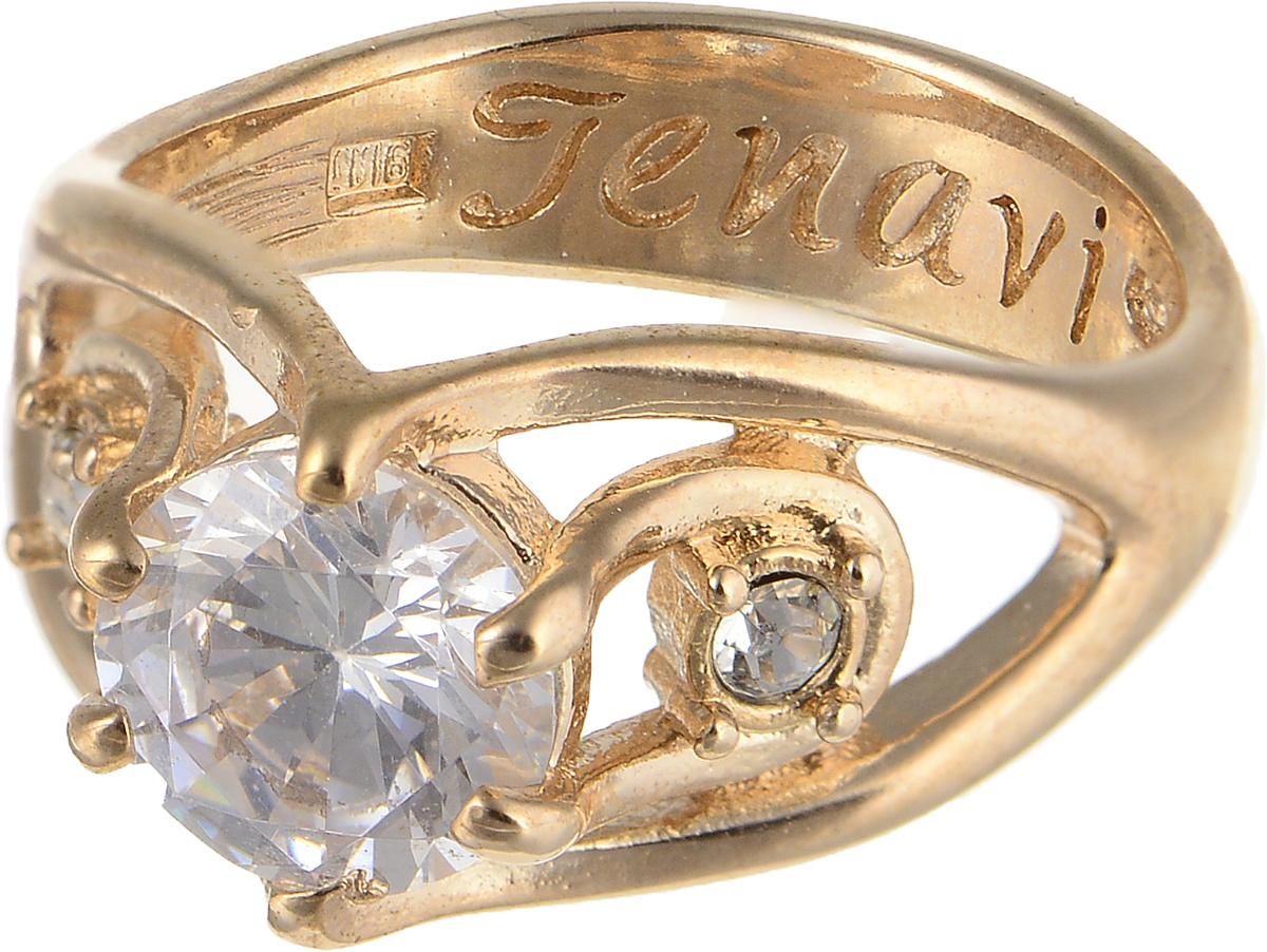 Кольцо Jenavi Teona. Рутера, цвет: золотой. f418p0a0. Размер 20Коктейльное кольцоЭлегантное кольцо Jenavi Teona. Рутера изготовлено из гипоаллергенного ювелирного сплава. Декоративная часть оформлена фианитами. Внутренняя сторона изделия дополнена гравировкой с названием бренда. Такое стильное кольцо идеально дополнит ваш образ и подчеркнет вашу индивидуальность.
