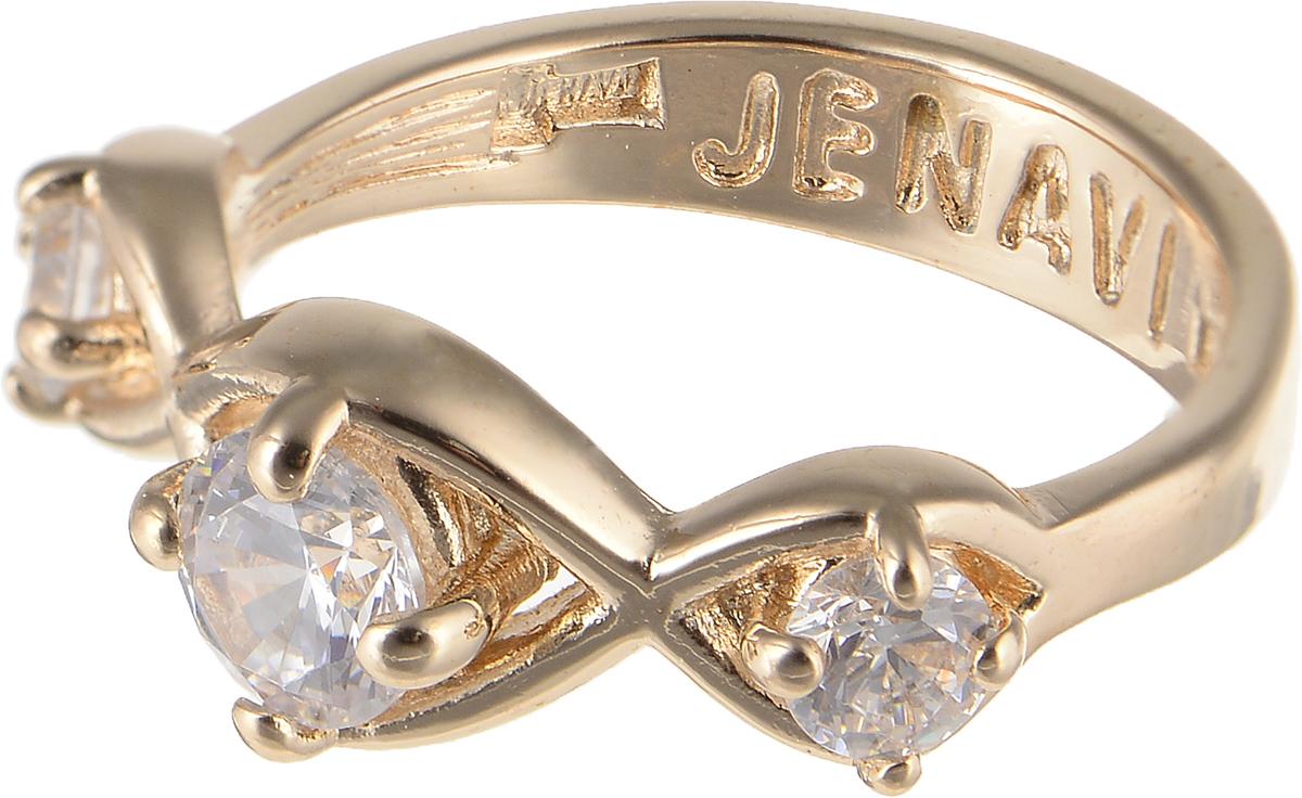 Кольцо Jenavi Teona. Суал, цвет: золотой. f426p0a0. Размер 18Коктейльное кольцоЭлегантное кольцо Jenavi Teona. Суал изготовлено из гипоаллергенного ювелирного сплава. Декоративная часть оформлена фианитами. Такое стильное кольцо идеально дополнит ваш образ и подчеркнет вашу индивидуальность.