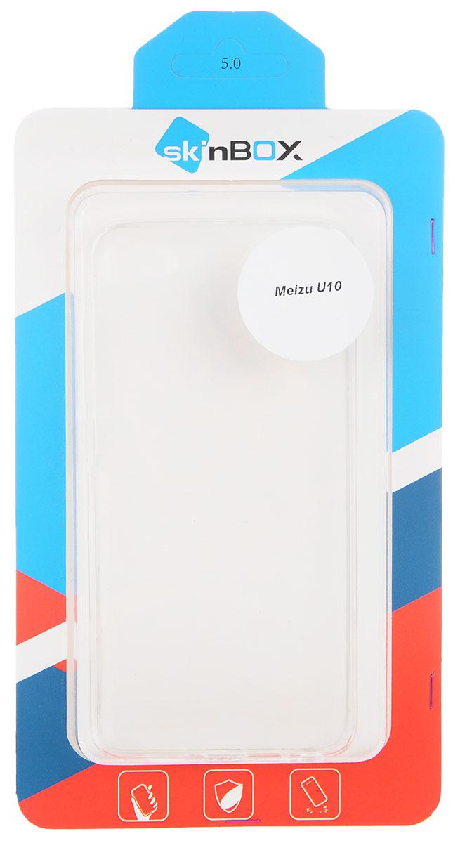 Skinbox Slim Silicone чехол для Meizu U10, Transparent2000000104973Чехол Skinbox Slim Silicone для Meizu U10 надежно защитит ваш смартфон от внешних воздействий, грязи, пыли, брызг. Он также поможет при ударах и падениях, не позволив образоваться на корпусе царапинам и потертостям. Чехол обеспечивает свободный доступ ко всем функциональным кнопкам смартфона и камере.