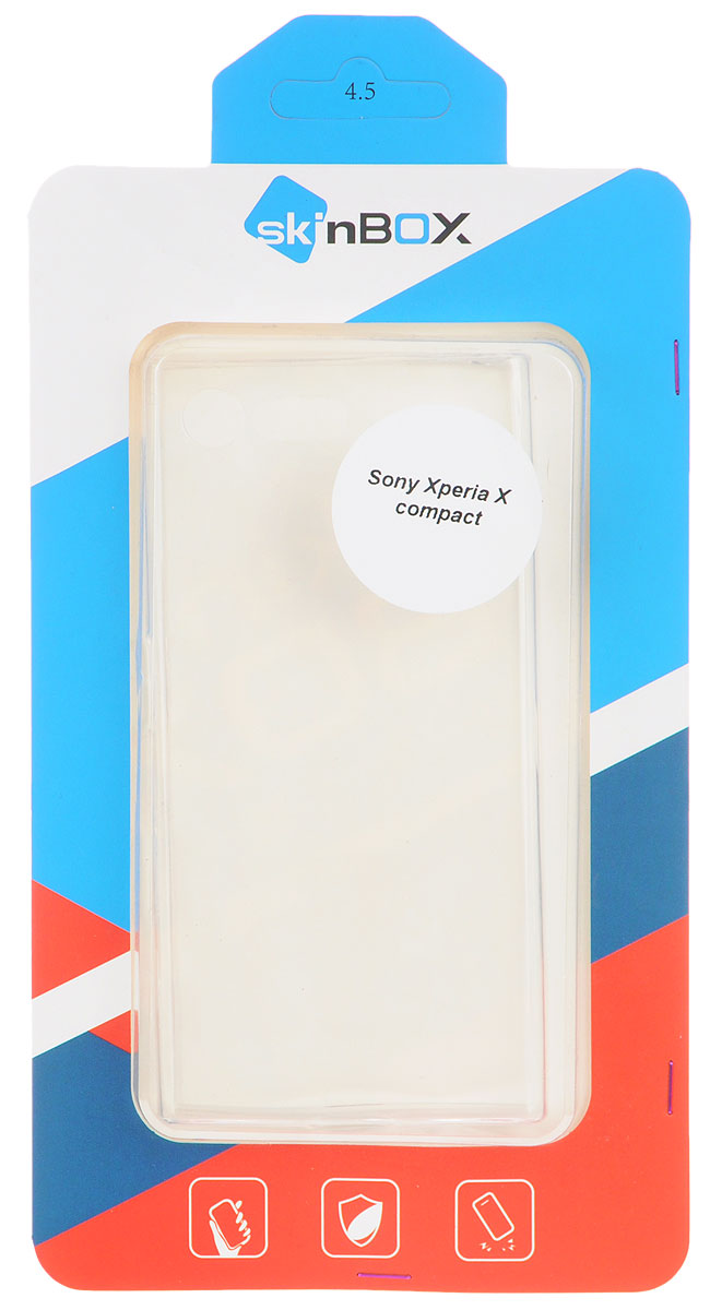 Skinbox Slim Silicone чехол для Sony Xperia X Compact, Transparent skinbox silicone чехол для sony xperia z5 compact brown