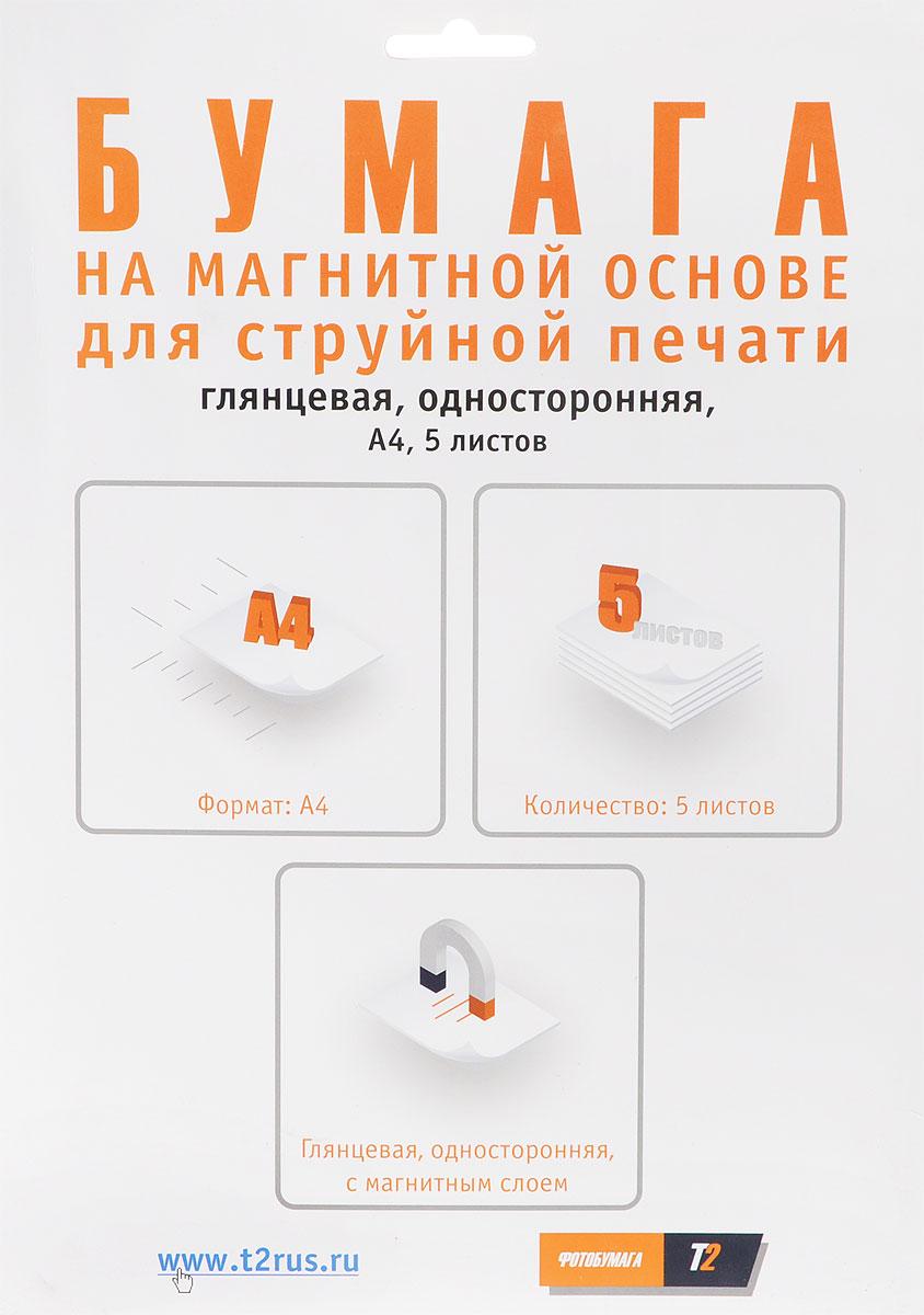 T2 PP-303 фотобумага глянцевая односторонняя с магнитным слоем A4/5 листовPP-303Бумага является одним из важнейших расходных материалов при печати, а от ее качества зависит конечный отпечаток. Односторонняя глянцевая фотобумага Т2 PP-303 с магнитным слоем гарантирует отличный результат.Бумага с магнитным слоем состоит из магнитного винила и приклеенного к нему листа фотобумаги. Ее можно легко резать ножницами и канцелярскими ножами. Изделия, сделанные на такой бумаге, удобно прикрепляются к любой поверхности из металла.