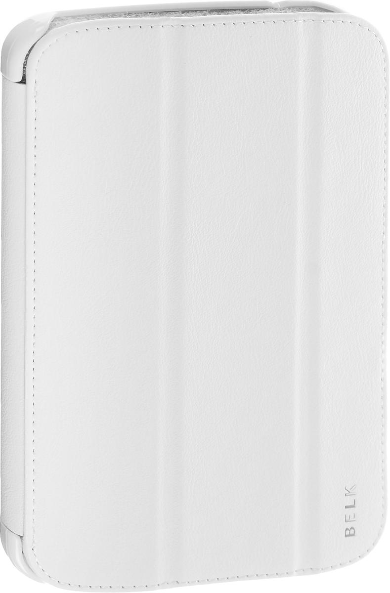 Belk чехол для Samsung Galaxy Tab 3 7.0, WhiteR0000329Чехол Belk для Samsung Galaxy Tab 3 7.0 надежно защищает ваш планшет от внешних воздействий, грязи, пыли, брызг. Он также поможет при ударах и падениях, не позволив образоваться на корпусе царапинам и потертостям. Чехол обеспечивает свободный доступ ко всем функциональным кнопкам и камере устройства.