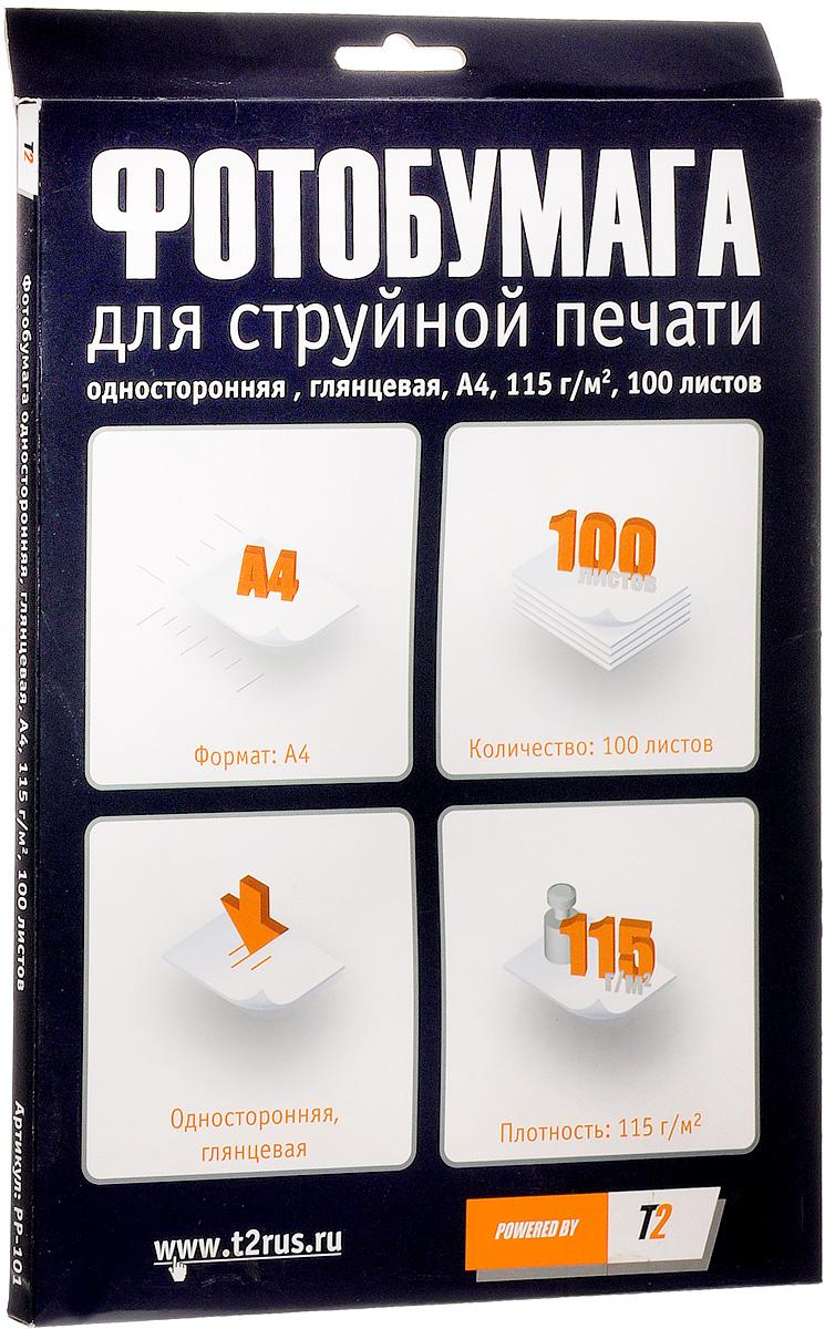 T2 PP-101 фотобумага односторонняя глянцевая А4/115/100 листов