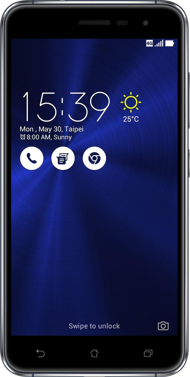 ASUS ZenFone 3 ZE520KL, Sapphire Black (90AZ0171-M00580)90AZ0171-M00580Asus ZenFone 3 - это современный смартфон с оригинальным дизайном и высококачественной камерой, который станет вашу жизнь чуть более необычной.Современный смартфон, отделанный с обеих сторон защитным стеклом безупречно выверенной формы. Тонкий корпус, который идеально ложится в ладонь. Оригинальный узор из концентрических окружностей, украшающий заднюю панель и выгравированный на кнопках, как отражение философской гармонии Дзен. Вы хотите получить совершенно новые впечатления от своего нового смартфона? Просто взгляните и прикоснитесь к ZenFone 3.ZenFone 3 - это синоним тонкой работы. Заключенный в корпус из высокопрочного стекла Corning Gorilla Glass со скругленными кромками, данный смартфон имеет толщину всего 7,69 мм. Красоту его изысканного дизайна подчеркивают акценты на боковых гранях, выполненные методом алмазной резки. Это шедевр современного инженерного искусства, которым вы никогда не устанете наслаждаться.ZenFone 3 оснащается превосходным дисплеем с диагональю 5,2, разрешением Full-HD (1920х1080 пикселей), увеличенной до 600 кд/м2 яркостью и широкими углами обзора, что обеспечивает качественное изображение даже в условиях сильного солнечного освещения. Причем благодаря сверхтонкой рамке (2,1 мм) и большой площади (более 77% от размера передней панели) экран ничуть не влияет на компактность смартфона.Технология PixelMaster 3.0 выводит фотовозможности устройств серии ZenFone 3 далеко за рамки доступного обычным смартфонам. Чтобы запечатлеть уникальную красоту окружающего мира в ее неповторимом великолепии, ZenFone 3 оснащается 16-мегапиксельным сенсором, светосильным объективом f/2.0 и системой тройной следящей автофокусировки TriTech с быстродействием от 0,03 с. Если добавить к этому высокоэффективную систему оптической и электронной стабилизации изображения, а также датчик цветокоррекции, то можно не сомневаться: четкие снимки и видеоролики с естественными, насыщенными цветами можно по