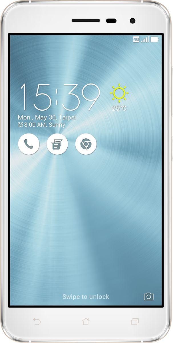ASUS ZenFone 3 ZE520KL, Moonlight White (90AZ0172-M00590)90AZ0172-M00590Asus ZenFone 3 - это современный смартфон с оригинальным дизайном и высококачественной камерой, который станет вашу жизнь чуть более необычной.Современный смартфон, отделанный с обеих сторон защитным стеклом безупречно выверенной формы. Тонкий корпус, который идеально ложится в ладонь. Оригинальный узор из концентрических окружностей, украшающий заднюю панель и выгравированный на кнопках, как отражение философской гармонии Дзен. Вы хотите получить совершенно новые впечатления от своего нового смартфона? Просто взгляните и прикоснитесь к ZenFone 3.ZenFone 3 - это синоним тонкой работы. Заключенный в корпус из высокопрочного стекла Corning Gorilla Glass со скругленными кромками, данный смартфон имеет толщину всего 7,69 мм. Красоту его изысканного дизайна подчеркивают акценты на боковых гранях, выполненные методом алмазной резки. Это шедевр современного инженерного искусства, которым вы никогда не устанете наслаждаться.ZenFone 3 оснащается превосходным дисплеем с диагональю 5,2, разрешением Full-HD (1920х1080 пикселей), увеличенной до 600 кд/м2 яркостью и широкими углами обзора, что обеспечивает качественное изображение даже в условиях сильного солнечного освещения. Причем благодаря сверхтонкой рамке (2,1 мм) и большой площади (более 77% от размера передней панели) экран ничуть не влияет на компактность смартфона.Технология PixelMaster 3.0 выводит фотовозможности устройств серии ZenFone 3 далеко за рамки доступного обычным смартфонам. Чтобы запечатлеть уникальную красоту окружающего мира в ее неповторимом великолепии, ZenFone 3 оснащается 16-мегапиксельным сенсором, светосильным объективом f/2.0 и системой тройной следящей автофокусировки TriTech с быстродействием от 0,03 с. Если добавить к этому высокоэффективную систему оптической и электронной стабилизации изображения, а также датчик цветокоррекции, то можно не сомневаться: четкие снимки и видеоролики с естественными, насыщенными цветами можно п