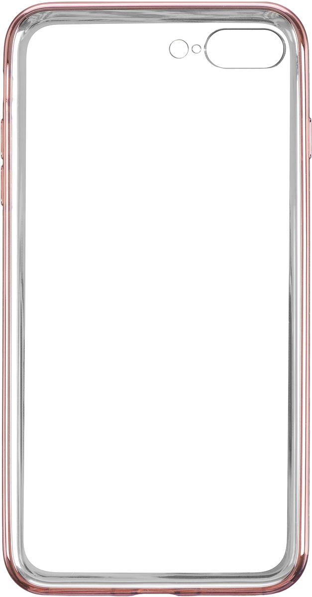 Deppa Gel Plus Case чехол для Apple iPhone 7 Plus, Pink Gold85262Чехол Deppa Gel Plus Case для Apple iPhone 7 Plus предназначен для защиты корпуса смартфона от механических повреждений и царапин в процессе эксплуатации. Плотный высокотехнологичный TPU (силикон) производства Bayer в разы повышает защитные функции чехла. Кейс эластичен, устойчив к изломам, не запотевает и не желтеет даже при длительной эксплуатации. Кейс надежно защищает iPhone со всех сторон и имеет все необходимые, тщательно выверенные отверстия для доступа к функциональным портам, разъемам и кнопкам смартфона. Вы можете легко зарядить устройство, не снимая чехол.Специально разработанный кейс для iPhone выполнен с применением особой технологии Electroplating: специальное гальванопокрытие и стильная рамка с эффектом металла придают особый шик вашему устройству.