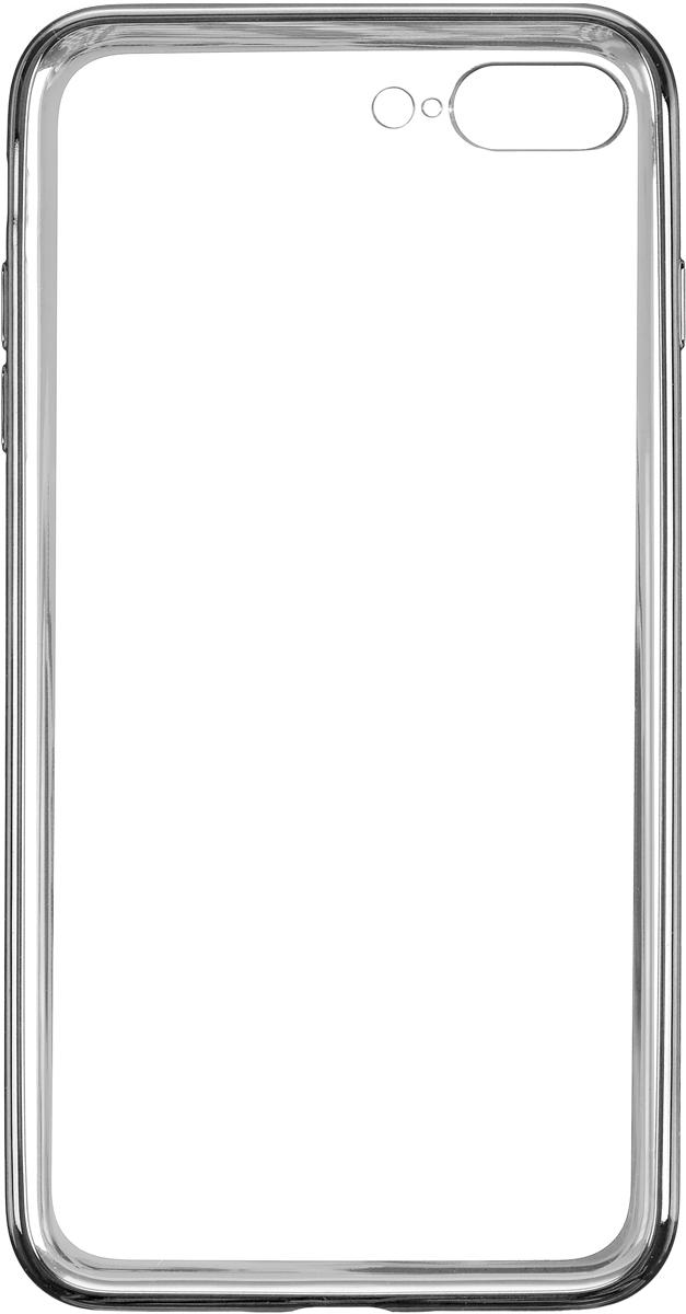Deppa Gel Plus Case чехол для Apple iPhone 7 Plus, Graphite85260Чехол Deppa Gel Plus Case для Apple iPhone 7 Plus предназначен для защиты корпуса смартфона от механических повреждений и царапин в процессе эксплуатации. Плотный высокотехнологичный TPU (силикон) производства Bayer в разы повышает защитные функции чехла. Кейс эластичен, устойчив к изломам, не запотевает и не желтеет даже при длительной эксплуатации. Кейс надежно защищает iPhone со всех сторон и имеет все необходимые, тщательно выверенные отверстия для доступа к функциональным портам, разъемам и кнопкам смартфона. Вы можете легко зарядить устройство, не снимая чехол.Специально разработанный кейс для iPhone выполнен с применением особой технологии Electroplating: специальное гальванопокрытие и стильная рамка с эффектом металла придают особый шик вашему устройству.