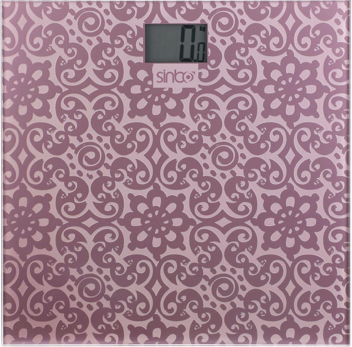 Sinbo SBS 4430, Purple весы напольныеSBS 4430Напольные электронные весы Sinbo SBS 4430. Удобны для ежедневного контроля веса. Обладают высокой точностью измерения веса. Имеют устойчивую и особо прочную стеклянную платформу, что позволяет выдерживать большую нагрузку.