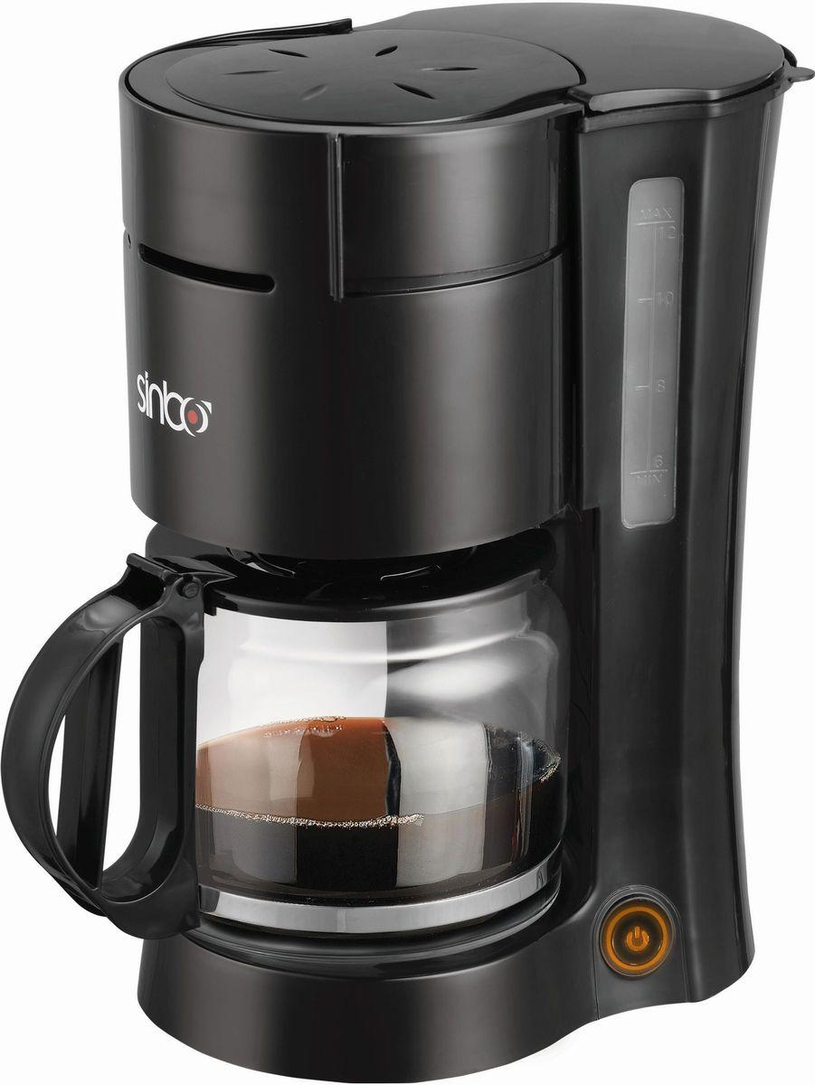 Sinbo SCM 2940, Black кофеваркаSCM 2940Капельная кофеварка Sinbo SCM 2940 незаменимая вещь на кухне для любителей терпкого напитка.Sinbo SCM 2940 имеет вместительный кувшин и резервуар для воды (1,5 л). Кувшин выполнен из надежного термостойкого стекла. Возможность использования бумажных фильтров идеально дополняют функциональность аппарата. Вы будете очарованы каждой каплей потрясающего кофе!