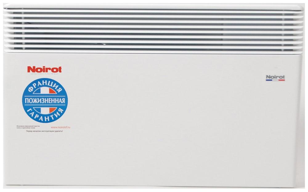 Noirot Spot E-3 Plus 2000W обогревательHY73587ARERNoirot Spot E-3 Plus - это новый электрический обогреватель конвективного типа. Вся конструкция направлена на равномерное распределение тепла для обогрева с максимальным комфортом. Конвектор работает по принципу естественной конвекции. Холодный воздух, проходя через прибор и его нагревательный элемент, нагревается и выходит сквозь решетки-жалюзи, незамедлительно начиная обогревать помещение.Конструктивные особенности конвекторов серии Spot E-3 Plus исключают возникновение посторонних шумов при нагреве и остывании электрических обогревателей и гарантируют полную безопасность в эксплуатации (отсутствие острых углов, нагрев поверхности не выше 60°С).Электронная автоматика выдерживает перепады напряжения от 150 В до 242 В, что наиболее актуально при частых скачках напряжения. На случай возможных перебоев с электропитанием в обогревателях предусмотрена функция авторестарта, восстанавливающая работу прибора в прежнем режиме.Обогреватели серии Spot Е-3 Plus оснащены электронным цифровым термостатом ASIC, который поддерживает температуру с точностью до 0,1°С. Высокая точность поддержания температуры приводит к экономии электроэнергии, увеличению срока службы прибора и созданию максимального комфорта в помещении без скачков температуры.Обогреватели имеют II класс электрозащиты, не требуют специального подключения к электросети и не нуждаются в заземлении, что позволяет оставлять их включенными 24 часа в сутки. При точном соблюдении правил эксплуатации исключена любая возможность воспламенения.Все модели серии Spot E-3 Plus выполнены в брызгозащищенном исполнении (IP 24) и могут применяться даже во влажных помещениях.