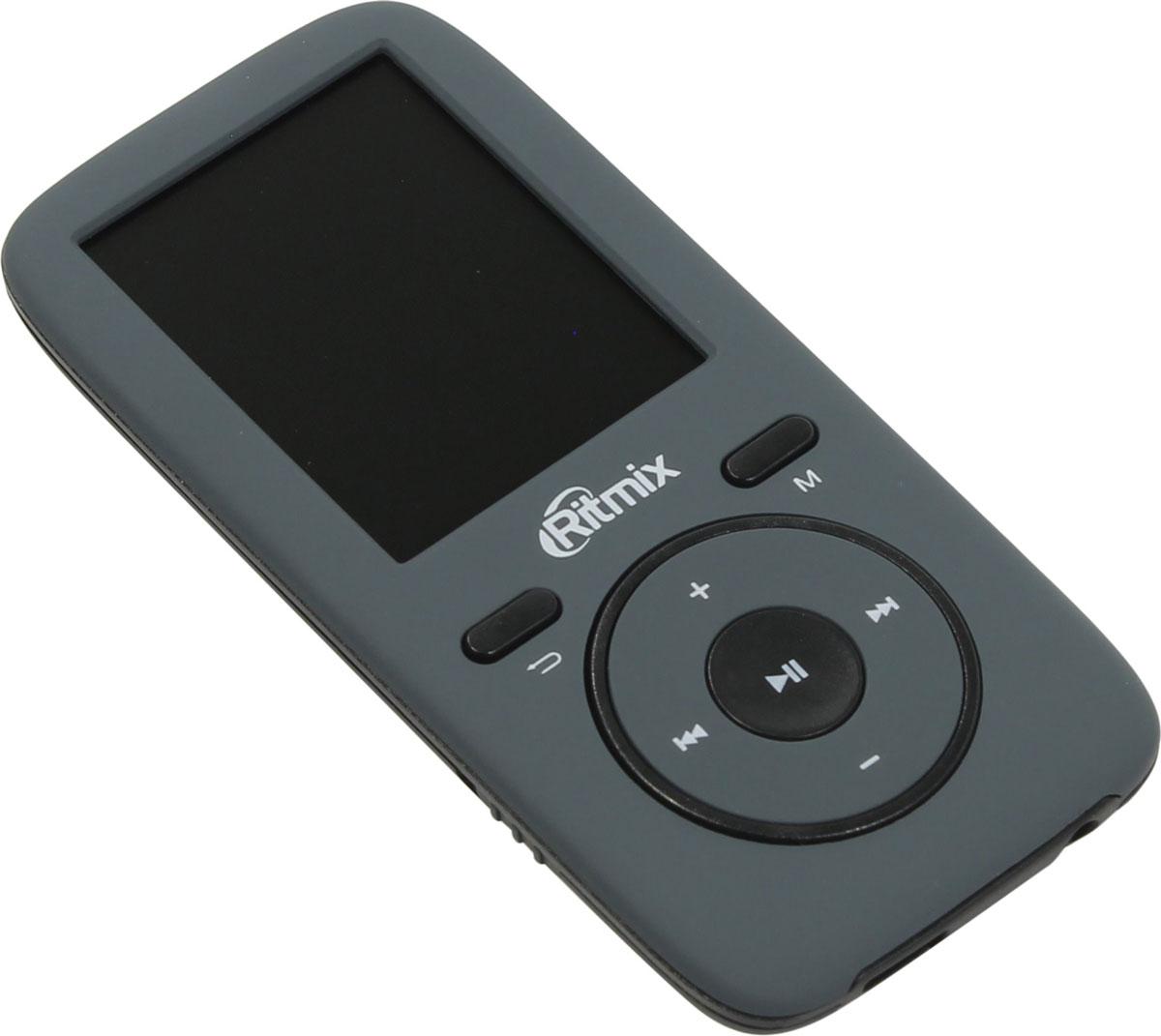 Ritmix RF-4450 8GB, Gray MP3-плеер15118462Ritmix RF-4450 - это доступный эргономичный плеер, поддерживающий все виды мультимедиа: музыку, радио, диктофон, фото и текст. Устройство обеспечивает высококачественное звучание, помимо стандартных форматов оно воспроизводит и такие Lossless-форматы, как FLAC и APE. Также доступно несколько настроек эквалайзера.Плеер выполнен из приятного на ощупь материала Soft Touch и представлен в нескольких цветовых решениях.Эргономичный и легкий мультимедиа плеерПростое и интуитивно понятное управлениеВсе необходимые функции в компактном корпусе: музыка, радио, диктофон, фото, текстВысокое качество звучания, поддержка Lossless-форматов (FLAC, APE)Несколько настроек эквалайзераВстроенная память + разъём для карты памяти MicroSD позволяют сохранить множество любимых песенПриятный на ощупь материал корпуса Soft TouchНесколько интересных цветовых решений на выборАвтоматическое отключение по таймеруСистемные требования: Windows 2000/ME/XP/VISTA/7/8/10, Mac OS X 10.0 и вышеMicroSD до 16 Гб