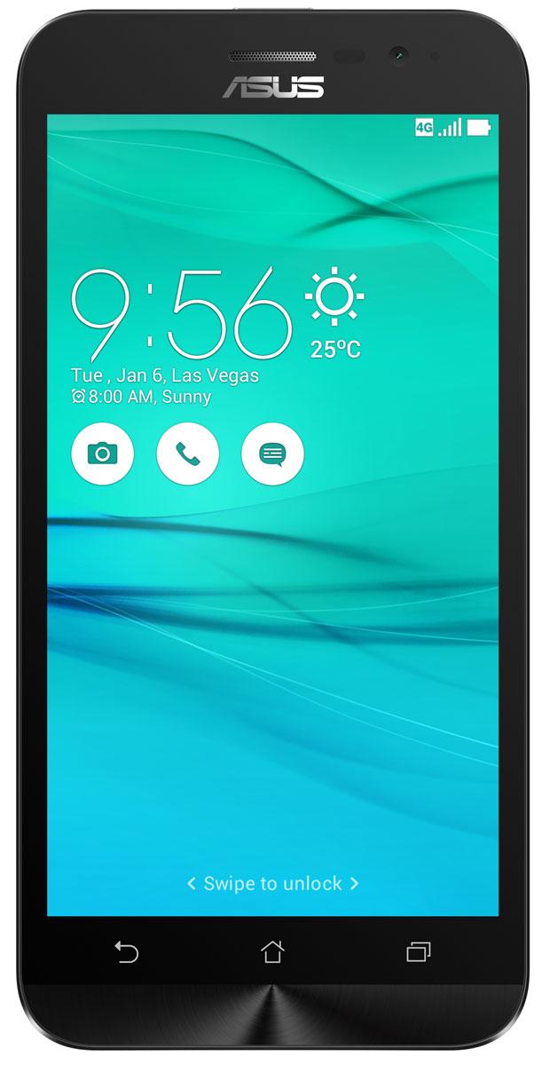 ASUS ZenFone Go ZB500KL, White (90AX00A2-M00730)90AX00A2-M00730Поддержка двух SIM-карт, четкое изображение, интуитивно понятный пользовательский интерфейс - все это вы найдете в новом смартфоне Asus ZenFone Go ZB500KL.Линейка мобильных продуктов Asus, разрабатываемых под общей философией Zen, - это устройства, которыми приятно пользоваться. Сочетая в себе широкую функциональность и великолепный дизайн, они идеально подходят для современного, мобильного стиля жизни.ZenFone Go выполнен в эргономичном корпусе, который удобно ложится в ладонь. Оригинальным и весьма удобным решением в его дизайне является расположенная на задней панели корпуса кнопка, с помощью которой можно делать фотоснимки, изменять громкость звука и т.д.Подчеркните свою индивидуальность, выбрав ZenFone Go своего любимого цвета из нескольких доступных вариантов. А затем установите соответствующую визуальную тему пользовательского интерфейса ASUS ZenUI.В ZenFone Go реализована эксклюзивная технология PixelMaster, представляющая собой комплекс аппаратных и программных функций, направленных на повышение качества мобильной фотографии.В режиме низкой освещенности камера смартфона объединяет каждый четыре пикселя датчика изображения в один для увеличения светочувствительности на 400%. При этом также минимизируется цветовой шум и увеличивается контрастность.В режиме увеличенного динамического диапазона (Super HDR) происходит автоматическое изменение параметров изображения с целью обеспечения равномерной засветки всей фотографии.Функция улучшения портрета позволяет автоматически украсить селфи-снимки в режиме реального времени: убрать дефекты кожи, подкорректировать черты лица и т.д.ZenFone Go оснащается двумя слотами для SIM-карт, что позволяет использовать одновременно два телефонных номера, например рабочий и личный. Применяемый в нем модуль мобильной связи уверенно работает даже в неблагоприятных условиях и может похвастать пониженным энергопотреблением, что положительно сказывается на времени автономной 