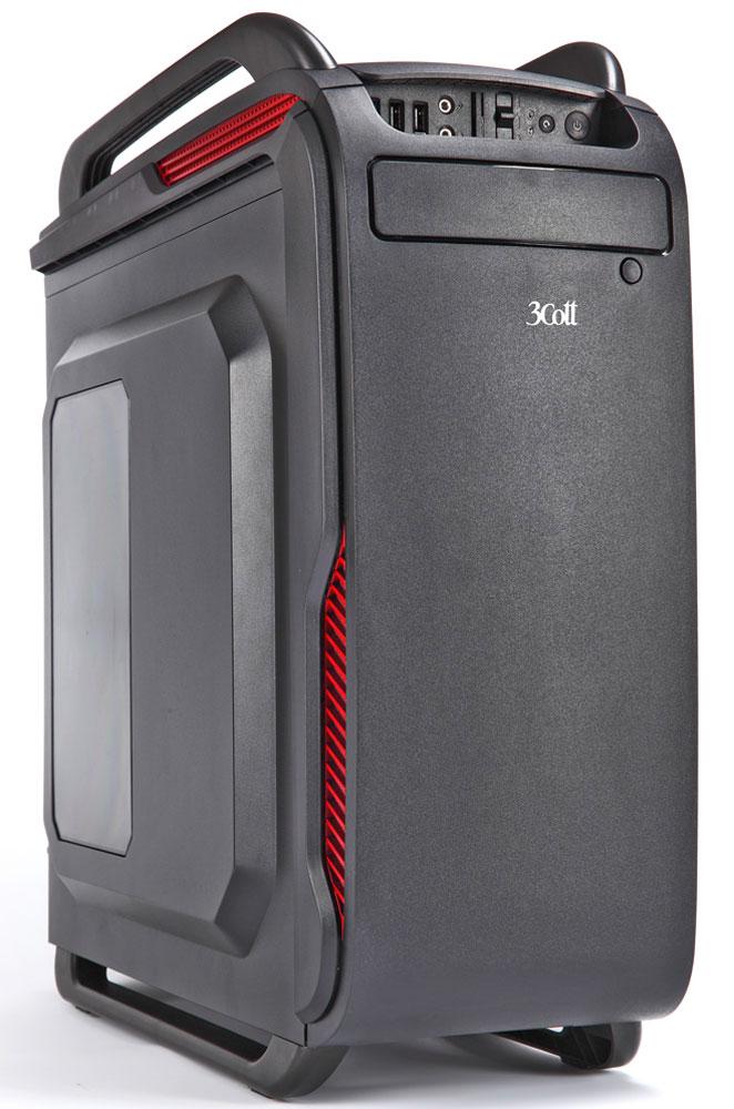 3Cott Collesseum, Black компьютерный корпус (3C-ATX666GB)3C-ATX666GBКорпус 3Cott Collesseum из серии Game Pro – отличный выбор для сборки игрового компьютера на основе самых высокопроизводительных комплектующих.Крупный, почти полметра в высоту, корпус 3Cott Collesseum внешним видом напоминает щит римского солдата. Мощный блок питания на 800 Вт с защитой от сбоев напряжения и пылесборной сеткой располагается в нижней части корпуса, что освобождает место для плат расширения. Мощность блока питания, в сочетании с продуманной системой отвода тепла с возможностью установки до 7 вентиляторов, обеспечит идеальные условия для работы самых требовательных к мощности и температуре в корпусе систем. Корпус также оснащен HDD/SSD лотком из ударопрочного пластика. Имеется возможность скрытой установки кабелей (Cable Management).