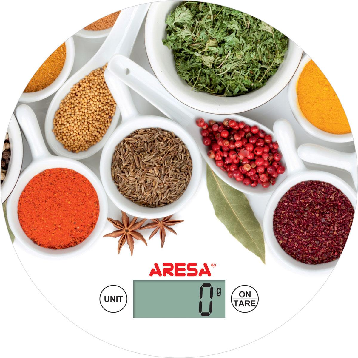 Aresa SK-415 кухонные весыSK-415_белый, специиКухонные электронные весы Aresa SK-415 на двухпозиционном тензоэлектрическом датчике - незаменимые помощники современной хозяйки. Они помогут точно взвесить любые продукты и ингредиенты. Кроме того, позволят людям, соблюдающим диету, контролировать количество съедаемой пищи и размеры порций. Предназначены для взвешивания продуктов с точностью измерения 1 грамм.Минимальная нагрузка: 5 г