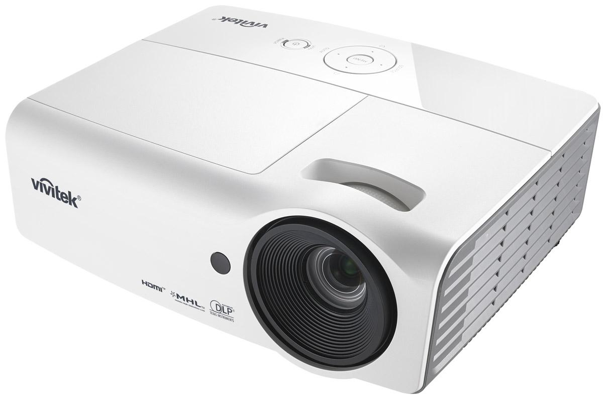 Vivitek H1060, White кинотеатральный проектор813097021625Vivitek H1060 подходит для любых современных мультимедийных развлечений, будь то семейный просмотр нового фильма, компьютерные игры шумной компанией или футбол на большом экране. Он удачно впишется даже в небольшую комнату и обеспечит насыщенную и впечатляющую картинку, благодаря яркости 3000 ANSI Лм и уровню контрастности 15000:1. Этот проектор оснащен двумя HDMI интерфейсами с поддержкой MHL, встроенной акустической системой и множеством предустановок под разные типы контента.Удобная верхняя крышка для замены лампы, которой вы вряд ли воспользуетесь. Ведь сама лампа проработает 10 000 часов, а это несколько лет ежедневных просмотров. Герметичный оптический тракт препятствует попаданию пыли и грязи в оптический блок, что гарантирует чистую и четкую картинку в течении всего срока службы проектора.Чип: 0,65 DMDМаксимальное поддерживаемое разрешение: WUXGA (1920x1200)Проекционная система: DLPПроекционное отношение: 1.14 - 1.5:1Параметры объектива: F=2.59-2.91, f=16.87-21,87 ммЗум, фокусировка: 1.3xОффсет: 115%