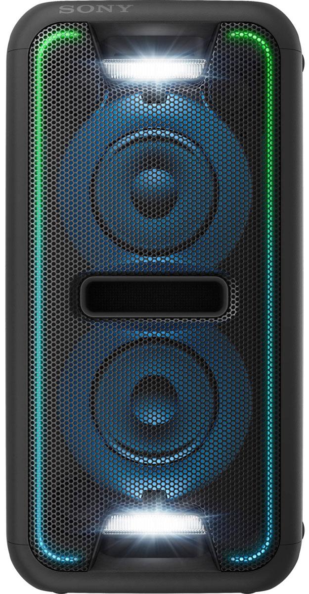 Sony GTK-XB7, Black акустическая системаGTKXB7B.RU1Создайте яркое ощущение праздника для любой вечеринки благодаря мощной моноблочной аудиосистеме Sony GTK-XB7. Функция Extra Bass и яркая подсветка помогут создать клубную атмосферу у вас дома.Активируйте режим с помощью кнопки Extra Bass, чтобы добавить мощности музыке. Этот режим усиливает звучание низких частот и обеспечивает мощный глубокий бас. Просто нажмите на кнопку, чтобы активировать режим, и приготовьтесь к оглушительному насыщенному звучанию басов.Создайте атмосферу клуба с помощью светодиодной подсветки динамика. Динамики со светодиодной подсветкой поддерживают различные многоцветные световые эффекты: от чисто белого до радужного. Синхронизируясь с музыкальным ритмом, сила и частота мерцания подсветки всегда максимально точно передают музыкальное настроение и клубную атмосферу.Удобная двухпозиционная конструкция обеспечивает великолепный звук вне зависимости от особенностей расположения акустической системы. Поставьте колонки горизонтально, чтобы добиться классической обстановки интерьера или установите их в вертикальном положении для экономии пространства. Встроенный датчик оптимизирует обработку звукового сигнала для создания стереоэффекта и обеспечивает оглушительную мощь звука в любом положении.Уникальная технология от Sony ClearAudio+ автоматически регулирует настройки звука и делает впечатления от прослушивания максимально насыщенными. Являясь результатом объединения многолетнего опыта в области технологий цифровой обработки звукового сигнала, ClearAudio+ позволяет оптимизировать звучание и обеспечить неизменно высокое качество и чистоту звука - будь то музыка, видеоигры или фильмы.Добавьте мощности своей аудиосистеме. Создайте последовательное подключение нескольких стереосистем для еще более мощного звука. Сделайте одно из устройств в цепочке ведущим и синхронизируйте воспроизведение музыки на этом устройстве с другими устройствами.Улучшение качества сжатых музыкальных файлов. Если оригинальный м