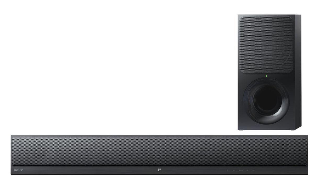 Sony HT-CT390, Black саундбарHTCT390.RU3Благодаря 2.1-канальному саундбару Sony HT-CT390 можно расслышать детали и нюансы при прослушивании музыки или просмотре кино. Звук мощностью до 300 Вт отлично заполняет пространство, а беспроводной сабвуфер добавляет глубины и резонанса басам.Почувствуйте себя в центре звуковой сцены при просмотре любого фильма благодаря 2.1-канальному саундбару Sony HT-CT390. При разработке двух динамиков специальное внимание было уделено возможности воспроизведения сбалансированного звука на всем частотном диапазоне. Вместе с этим встроенный сабвуфер обеспечивает более сочное звучание басов — поэтому любой спецэффект или динамичная сцена фильма будут восприниматься максимально реалистично.Полное погружение благодаря виртуальному объемному звуку. Технология объемного звучания S-Force Front Surround симулирует нейронные процессы, создавая объемный реалистичный звук с задержкой звучания и широким спектром звуковых волн — этого удается достичь всего лишь с помощью правого и левого звуковых каналов. Эмуляция естественного звучания трехмерного звукового поля позволяет вам полностью погрузиться в объемный звук без установки полноценной акустической системы.Уникальная технология от Sony ClearAudio+ автоматически регулирует настройки звука и делает впечатления от прослушивания максимально насыщенными. ClearAudio+ — результат объединения знаний и опыта специалистов в области технологий обработки звукового сигнала. Эта технология позволяет оптимизировать аудиоформаты и обеспечивает последовательно четкое, высококачественное звучание независимо от жанра музыки.Беспроводная потоковая передача любимых треков и звука из приложений по Bluetooth. Выполнить сопряжение можно практически с любим смартфоном или планшетом, после чего вы сразу можете ставить музыку, управлять списками воспроизведения и уровнем громкости прямо с устройства. Технология NFC (Near Field Communication) максимально упрощает процедуру настройки и установки. Чтобы быстро подключиться и с