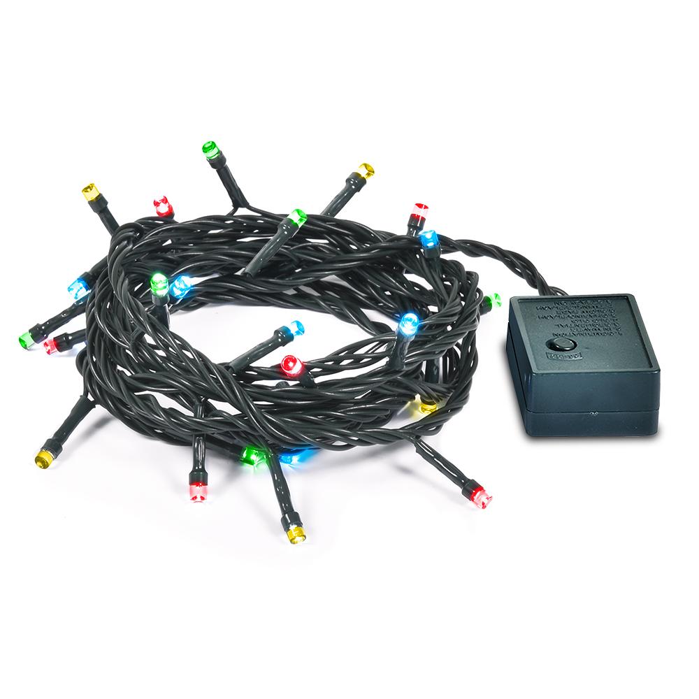 Гирлянда электрическая Vegas Нить, с контроллером, 50 ламп, длина 5 м, свет: мультиколор. 55058 гирлянда электрическая vegas сеть с контроллером 176 ламп длина 1 5 м свет мультиколор 55073