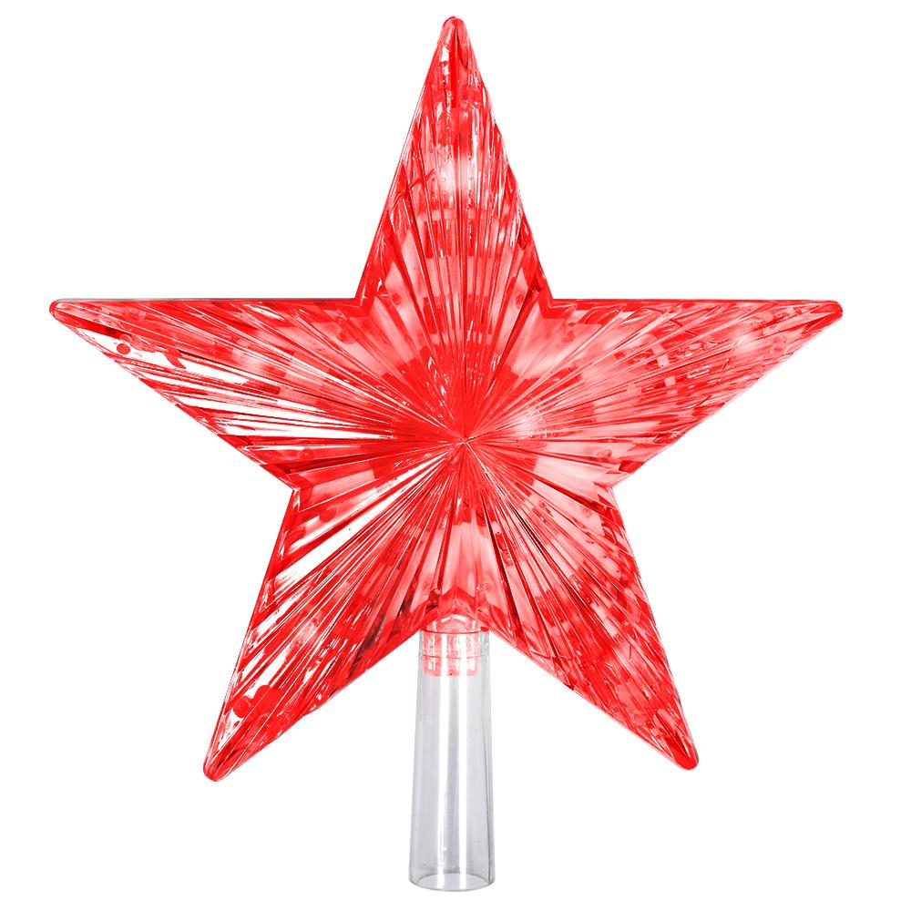 Верхушка на елку Vegas Звезда, 30 ламп, длина 3 м, свет: красный. 5508655086Светодиодные гирлянды для домашнего пользования VEGAS Верхушка на елку Звезда красная 30 красных мигающих led, зеленый провод 3м, 20*20 см, 220 v /20