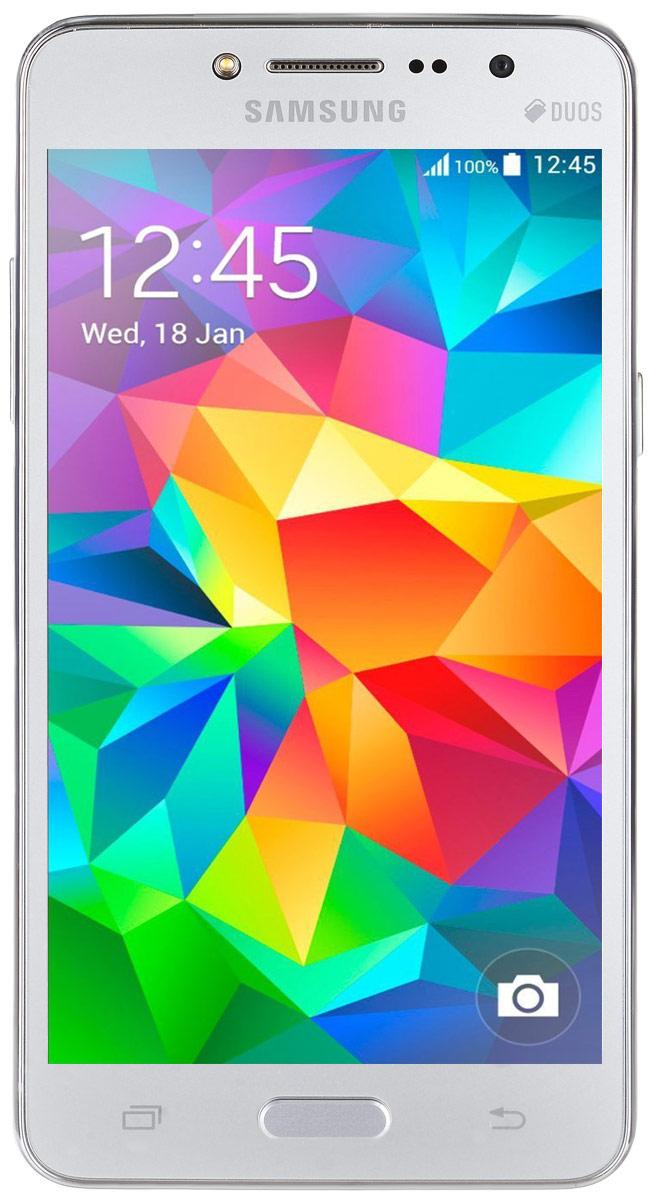Samsung SM-G532F Galaxy J2 Prime DS, SilverSM-G532FZSDSERSamsung SM-G532F Galaxy J2 Prime DS отличается элегантным дизайном передней панели, который значительно усиливает впечатление от просмотра.При толщине 8,9 мм и ширине 72,1 мм, смартфон Galaxy J2 Prime DS выглядит изящно, приятная на ощупь текстура корпуса подчеркивает элегантность формы и ощущение комфорта при использовании смартфона.Аккумулятор с емкостью 2600 мАч позволит оставаться на связи дольше обычного. При отсутствии возможности подзарядки используйте режим максимального энергосбережения.Производительный 4-ядерный процессор 1,4 ГГц и 1,5 ГБ оперативная память обеспечивают мгновенную реакцию смартфона на любые ваши действия.Удобное приложение Smart ManageПростой способ управления основными функциями смартфона: уровень заряда аккумулятора, доступный объем памяти, состояние использования оперативной памяти и безопасность смартфона.Телефон сертифицирован EAC и имеет русифицированный интерфейс меню, а также Руководство пользователя.
