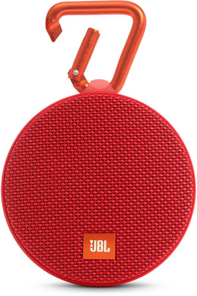 JBL Clip 2, Red портативная колонкаJBLCLIP2REDJBL Clip 2 - ультра-легкая, ультра-прочная и ультра-мощная портативная акустическая система. Полностью водонепроницаемый JBL Clip 2 способен воспроизводить музыку до 8 часов в непрерывном режиме, позволяя брать любимые песни с собой в любое путешествие - по земле или воде. Воспроизводите музыку по беспроводной Bluetooth-связи или подключайте его к смартфону или планшету с помощью аудио-кабеля. Подключайте два Clip 2 по беспроводной связи для усиления звучания. Используйте спикерфон, чтобы звук во время разговора по телефону оставался четким без посторонних шумов и эхо. Покрытие JBL Clip 2 выполнено из прочной водостойкой ткани, а новый карабин позволяет прикрепить динамик на одежду или рюкзак и сразу отправиться в новое приключение.