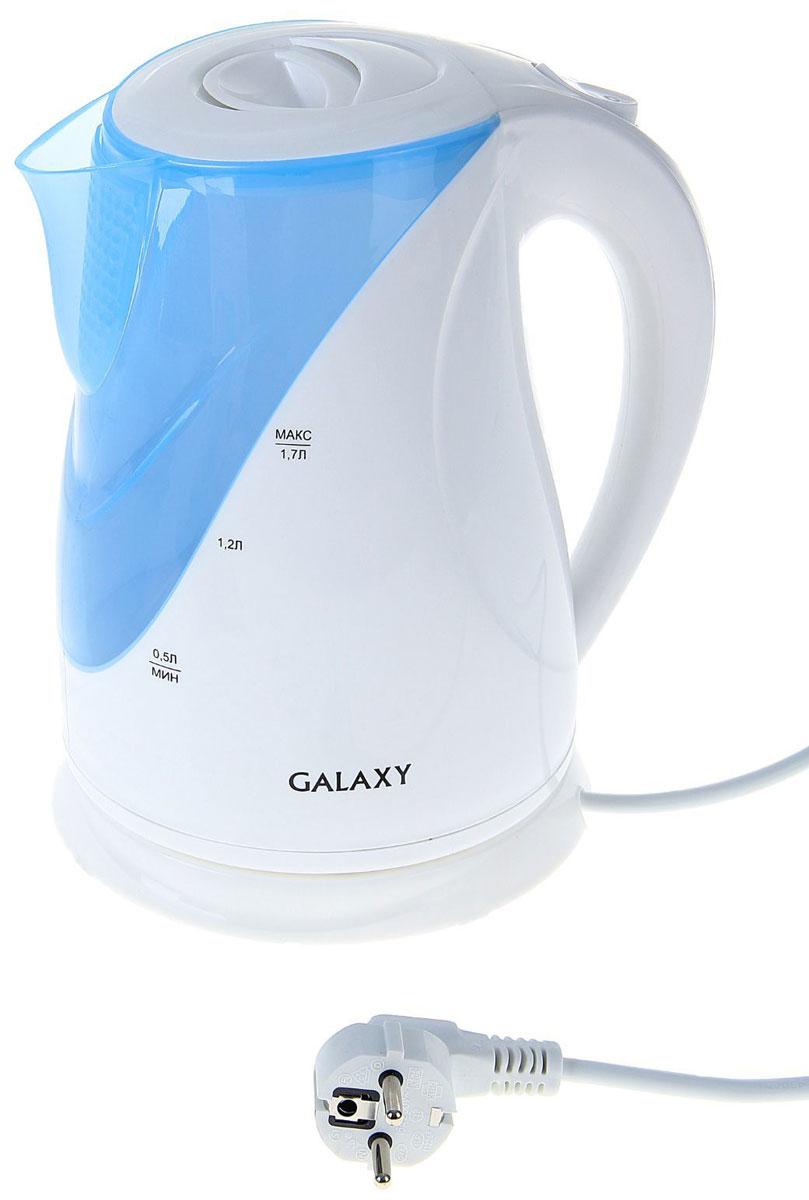 Galaxy GL 0202 электрический чайник4630003368904Galaxy GL 0202 - надежный и недорогой электрочайник мощностью 2200 Вт в корпусе из качественного пластика. Прибор оснащен скрытым нагревательным элементом и позволяет вскипятить до 1,7 литра воды. Данная модель оборудована светоиндикатором работы, поворотной поверхностью 360° и фильтром для воды. Для обеспечения безопасности при повседневном использовании предусмотрены функция автовыключения, а также защита от включения при отсутствии воды.