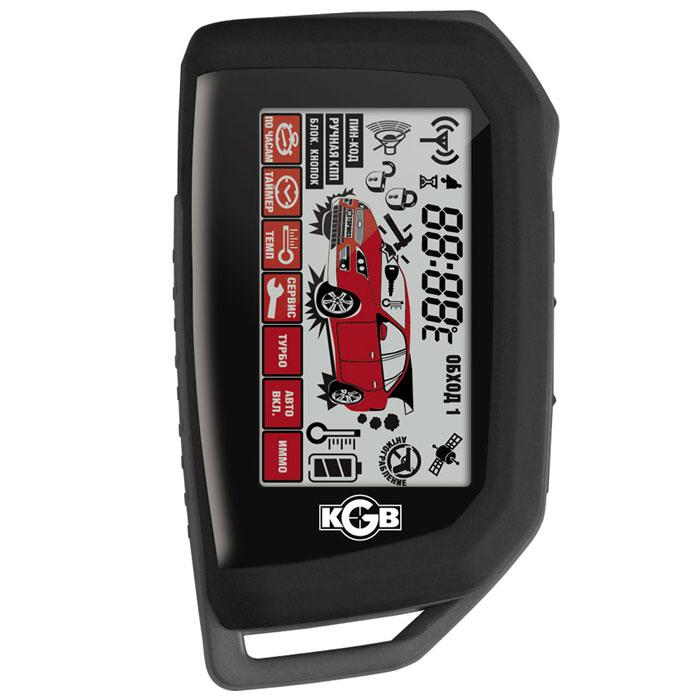 KGB GX-5RS охранная система для автомобиляKGB GX-5RSАвтомобильная охранная система KGB GX-5RS в своей основе имеет запатентованную технологию сдвоенного диалогового кода, при которой радиокоманды брелока дублируются на двух различных каналах. При этом система в режиме реального времени самостоятельно выбирает один из каналов, качество приема которого лучше. Данная технология обладает практически абсолютной устойчивостью к различным видам электронного взлома и код-граббинга. Для создания этого кода были применены индивидуальные 128-битные ключи шифрования, важной особенностью которых является возможность их смены при каждой последующей перезаписи брелока в системе.Автомобильная охранная система KGB GX-5RS имеет дополнительные управляющие FLEX-каналы с возможностью интеллектуального программирования в режиме сервисных настроек. Применение этих каналов не требует подключения дополнительных внешних устройств для осуществления сложных задач, которые выполняются штатными системами по команде охранной.7 независимых зон охраныСервисный режимДинамическое снятие системы с охраныРежим иммобилайзераАвтоматическая повторная постановка системы в охрануАвтоматическое запирание/отпирание дверей при включении/выключении зажигания или при нажатии педали тормозаФункция предупреждения о незакрытой двери во время движения автомобиляРаздельная индикация температуры в салоне автомобиля и под капотомВозможность управления внутрисалонным освещениемЗащита дверей автомобиля / Защита багажника и капотаВозможность подключения GSM-модуляФункция автоматического запуска двигателя по таймеруФункция автоматического запуска двигателя в предустановленное времяФункция автоматического запуска двигателя при низкой температуреСпециальный режим для автомобилей, имеющих двигатели с турбонаддувомПрограммируемый выход для дополнительных устройств