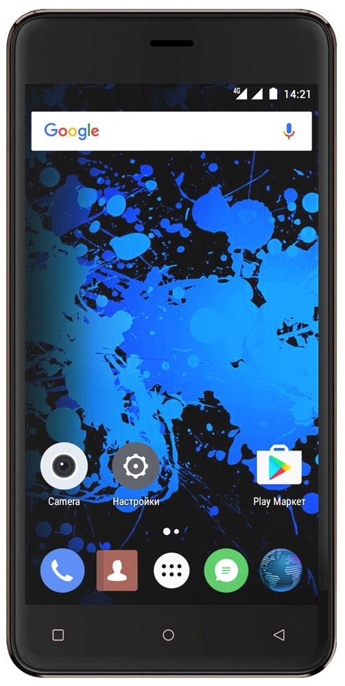 Highscreen Power Rage Evo, Brown23528Highscreen Power Rage Evo - металлический смартфон с мощным аккумулятором.Давно мечтал о новом смартфоне, который круто выглядит, долго работает, да еще и имеет металлический корпус? Highscreen реализовали твои мечты в Power Rage Evo.Отличительная особенность серии Power - батарея с рекордной ёмкостью, которая позволяет использовать все возможности твоего смартфона.Power Rage Evo построен на базе энергоэффективного Android 6, процессора MT6737 и обладает 3 ГБ оперативной памяти, что позволяет ему справляться с любыми задачами и эффективно контролировать заряд батареи.Смартфон ощущается и выглядит дороже своей стоимости, изящные линии корпуса и металлическая крышка выделяют Power Rage Evo из толпы безликих смартфонов.Power Rage Evo обладает ярким и контрастным 5-дюймовым IPS-дисплеем, закругленным по краям. Экран отображает естественные цвета, поэтому смотреть фильмы и играть в игры на нем особенно приятно.Получай крутые кадры благодаря отличной 13 Мп основной камере и 5 Мп фронтальной. Ты можешь моментально выбирать нужные фильтры и изменять настройки по своему усмотрению. Создавай настоящие шедевры и делись ими с близкими.Highscreen Power Rage Evo приведет тебя в правильное место, ведь он одновременно поддерживает сразу две системы спутниковой навигации, российский ГЛОНАСС и американский GPS.Смартфон может работать с двумя SIM-картами (с поддержкой российских сетей 4G/LTE), общайся с друзьями и решай важные вопросы по самым выгодным тарифам.Телефон сертифицирован EAC и имеет русифицированный интерфейс меню и Руководство пользователя.