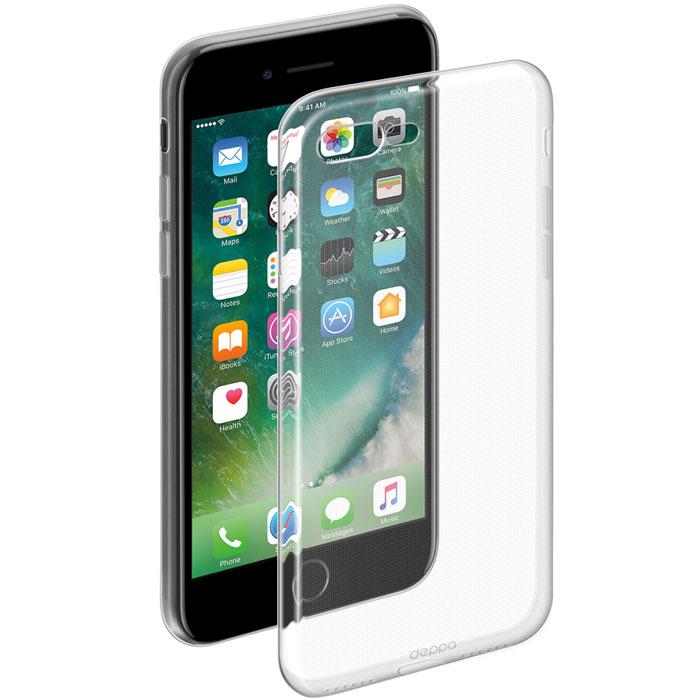 Deppa Gel Case чехол для Apple iPhone 7 Plus85252Чехол Deppa Gel Case для Apple iPhone 7 Plus предназначен для защиты корпуса смартфона от механических повреждений и царапин в процессе эксплуатации. Плотный высокотехнологичный TPU (силикон) производства Bayer в разы повышает защитные функции чехла. Кейс эластичен, устойчив к изломам, не запотевает и не желтеет даже при длительной эксплуатации. Он надежно защищает iPhone со всех сторон и имеет все необходимые, тщательно выверенные отверстия для доступа к функциональным портам, разъемам и кнопкам смартфона. Вы можете легко зарядить устройство, не снимая чехол.