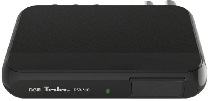 Tesler DSR-310 цифровой телевизионный ресивер DVB-T/T20291656Tesler DSR-310 - компактная модель без дисплея, но при этом ей присущи все достоинства DVB-T/T2 ресивера. Встроенный телегид поможет вам определиться с выбором интересного сериала, фильма или передачи. Кроме того, любой фрагмент эфира может быть записан на внешний накопитель и воспроизведен в любое удобное для вас время. Также Tesler DSR-310 может использован для воспроизведения мультимедийного контента.Чипсет: ALIi3812 ALAAТюнер: SONY CXD2861ER