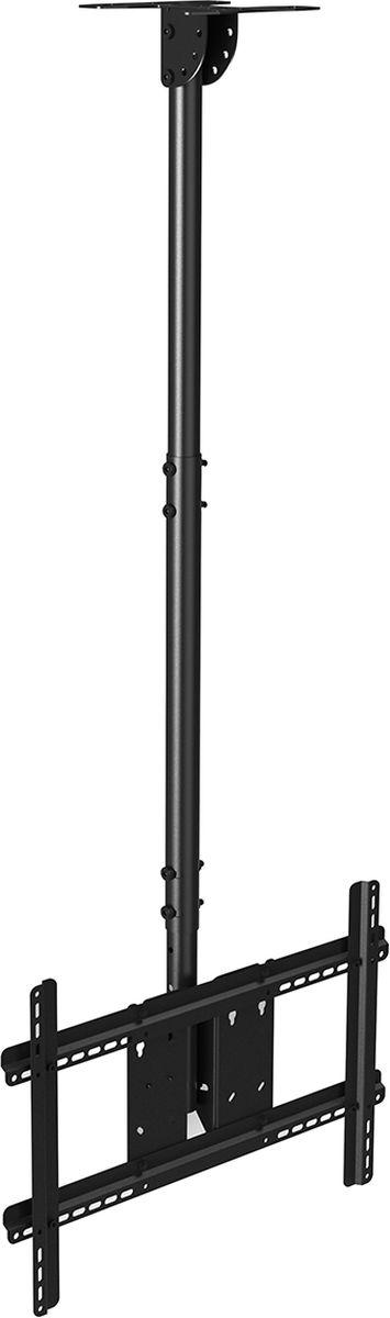 North Bayou NB T560-15, Black кронштейнчёрныйПотолочный наклонно-поворотный кронштейн с регулировкой по высоте North Bayou NB T560-15 подходит для телевизоров с диагональю 32-57 и с весом до 68,2 кг. Он позволяет без особых усилий изменять высоту телевизора в диапазоне от 72,5 до 150,5 см и угол наклона от -5° до +16°. Особая конструкция позволяет вращать кронштейн на 30°. Интегрированный в корпус кабель-канал позволяет спрятать и зафиксировать провода для удобства и эстетической красоты.