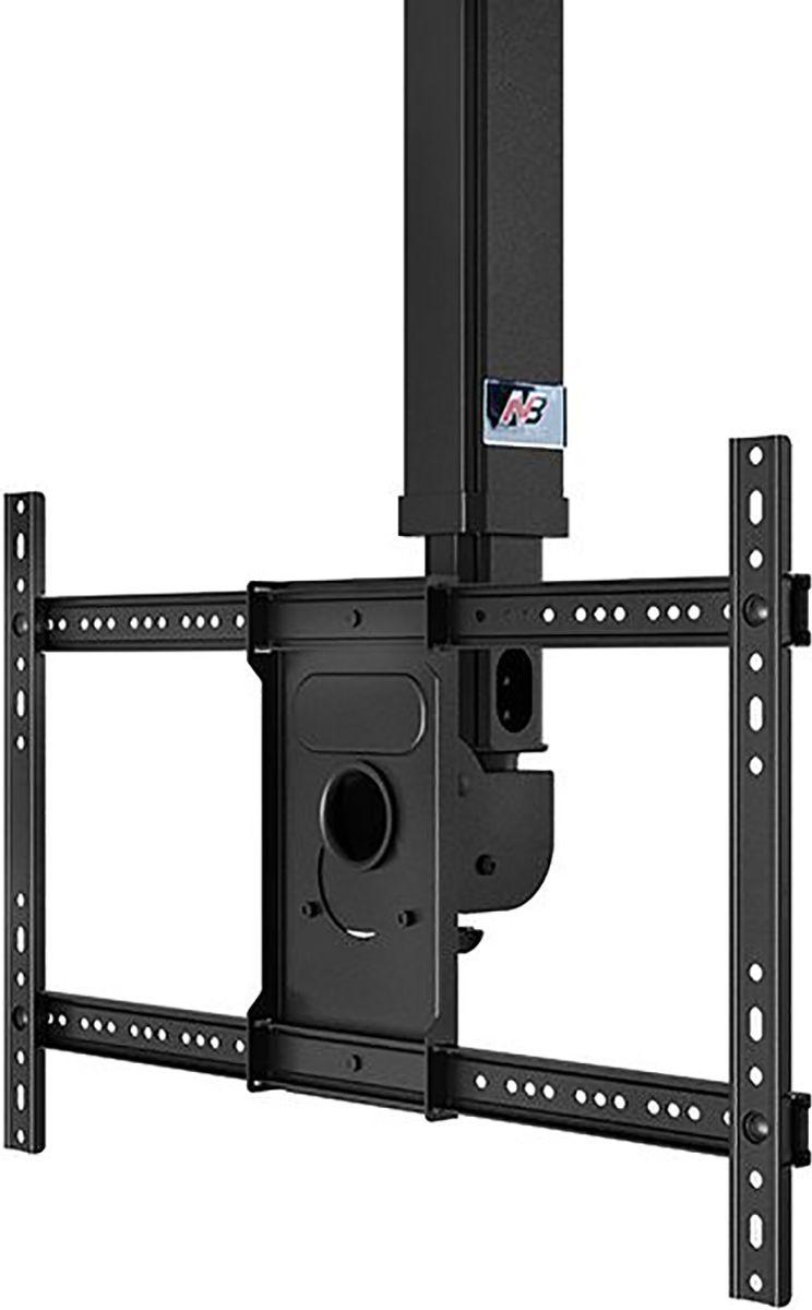 North Bayou NB T3260, Black кронштейнчёрныйТелескопический потолочный наклонно-поворотный кронштейн с регулировкой по высоте North Bayou NB T3260 подходит для телевизоров с диагональю 32-60 и с весом до 45,5 кг. Он позволяет без особых усилий изменять высоту телевизора в диапазоне от 90 до 150 см и угол наклона от -20° до +2°. Особая конструкция позволяет вращать кронштейн на 360° вокруг своей оси. Интегрированный в телескопический корпус кабель-канал позволяет спрятать и зафиксировать провода для удобства и эстетической красоты.