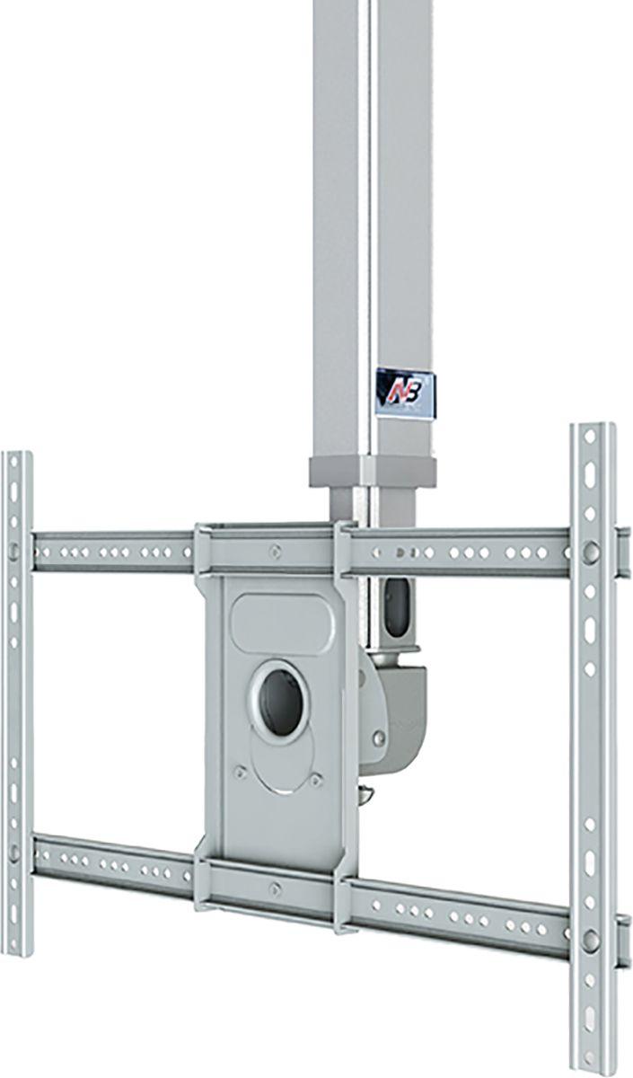 North Bayou NB T3260, Silver кронштейнсеребристыйТелескопический потолочный наклонно-поворотный кронштейн с регулировкой по высоте North Bayou NB T3260 подходит для телевизоров с диагональю 32-60 и с весом до 45,5 кг. Он позволяет без особых усилий изменять высоту телевизора в диапазоне от 90 до 150 см и угол наклона от -20° до +2°. Особая конструкция позволяет вращать кронштейн на 360° вокруг своей оси. Интегрированный в телескопический корпус кабель-канал позволяет спрятать и зафиксировать провода для удобства и эстетической красоты.
