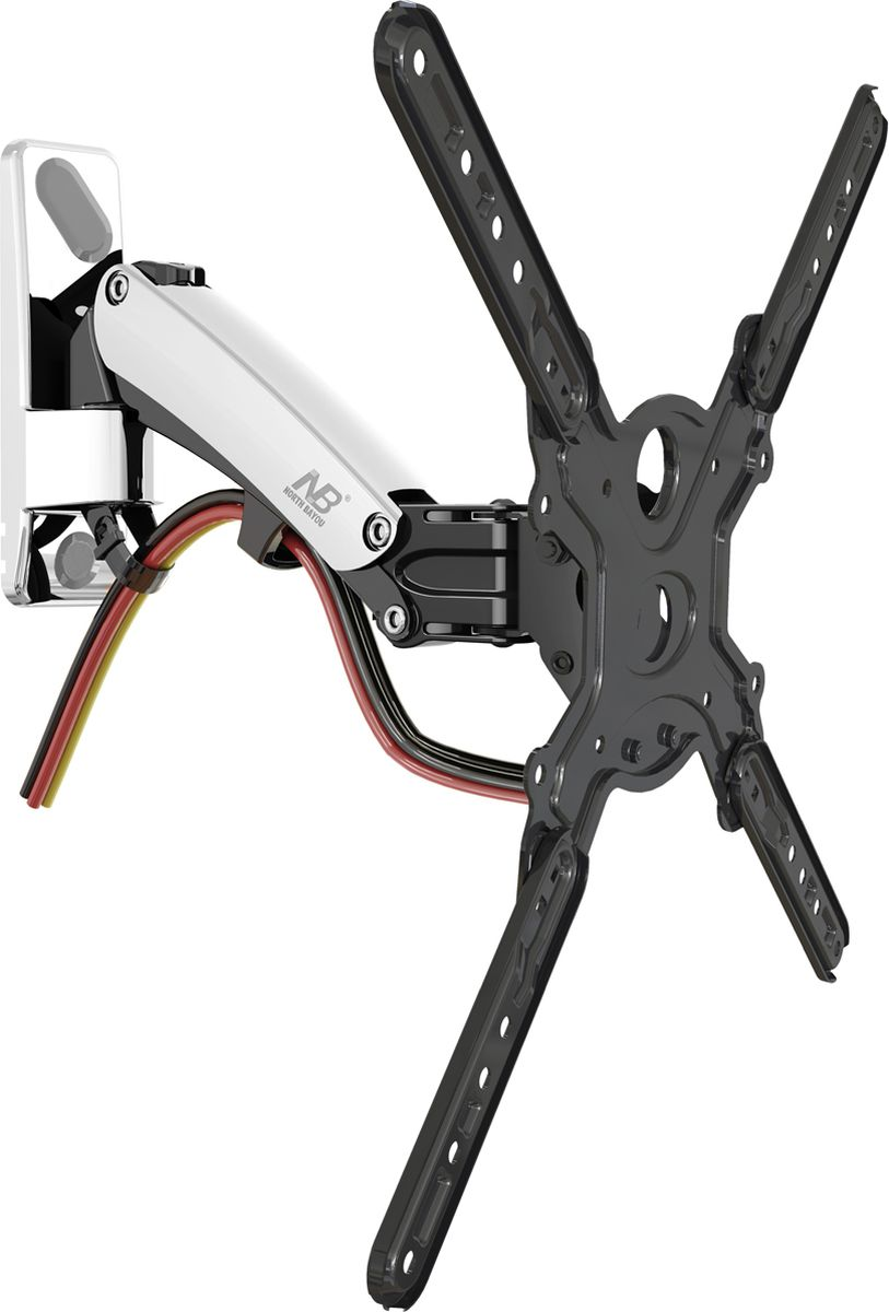 North Bayou NB F350, Chrome кронштейнхромированныйНаклонно-поворотный кронштейн North Bayou NB F350 предназначен для телевизоров с диагональю 40-50. Стильное крепление имеет привлекательный дизайн, повышенную прочность и максимально удобно в использовании. Встроенная в конструкцию газовая пружина позволяет регулировать кронштейн по высоте с фиксацией в нужном положении, без применения дополнительных инструментов. Кабель-канал позволяет расположить провода внутри кронштейна, что придает эстетический вид всей конструкции.