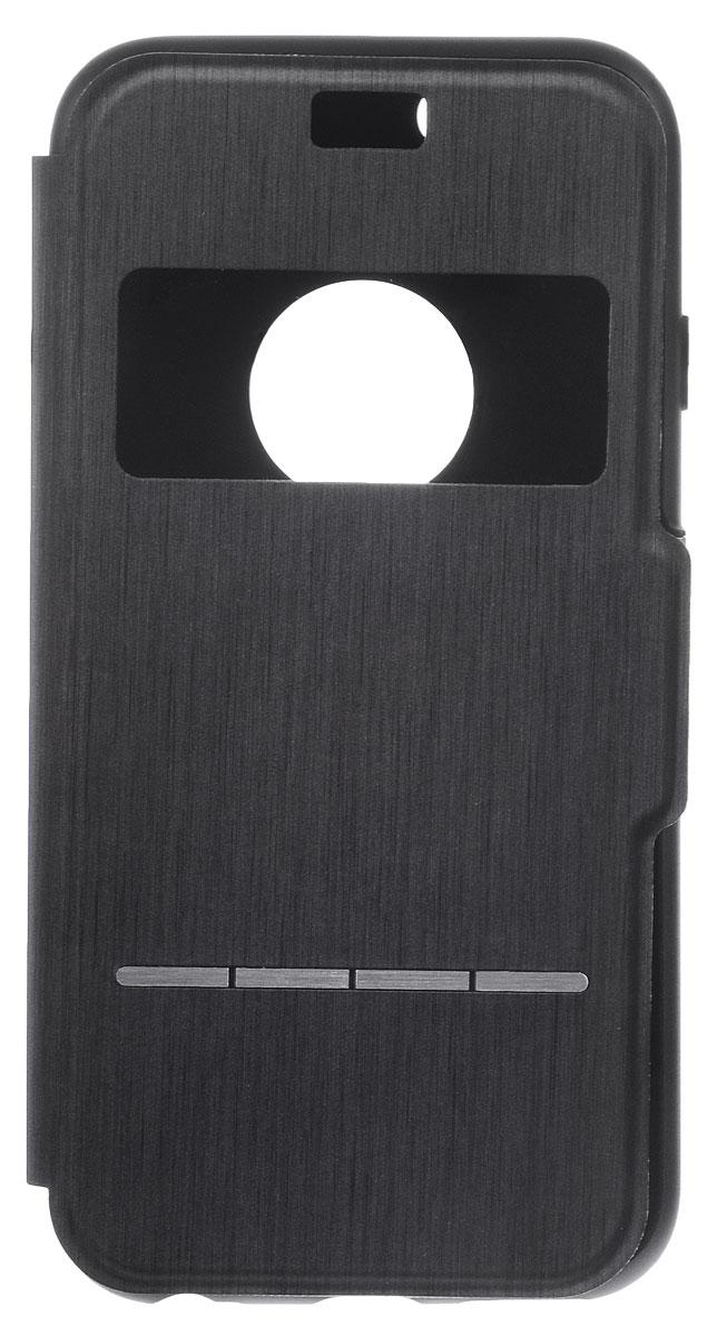 Moshi SenseCoverчехол дляiPhone 6/6s, Steel Black21656Чехол Moshi SenseCoverдляiPhone 6/6s защитит смартфон от различных механических повреждений и загрязнений. Он легко трансформируется в подставку, создавая комфорт при работе, чтении, просмотре фильмов. Благодаря кнопкам-подушечкам SensArray вы сможете отвечать на звонки не открывая крышки. Также с помощью данных кнопок вы сможете просматривать необходимую вам информацию, будь то время, дата или какие либо уведомления. Чехол имеет все необходимые прорези для быстрого доступа к разъемам и кнопкам управления.