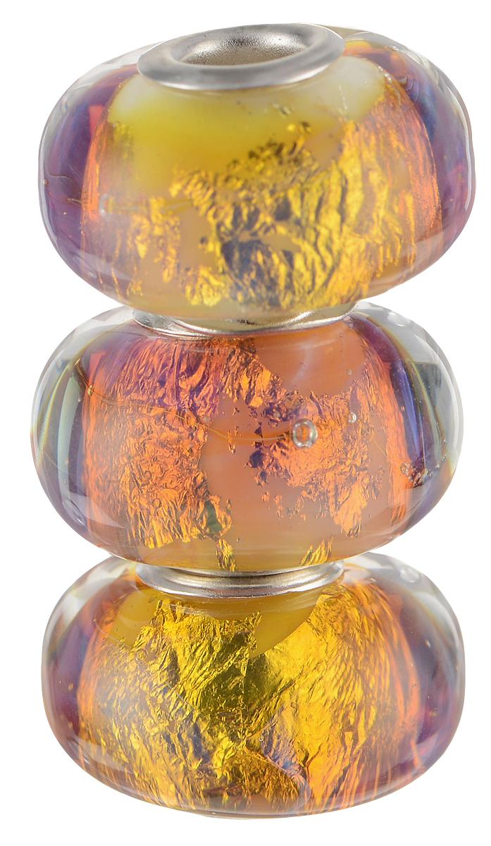 Европейские бусины Проксима Центавра, 3 штуки, цвет: сиреневый, золотой, серебряный. Ручная авторская работа. PDD008Кольцо для платкаСтильные бусины ручной работы Проксима Центавра не оставят вас равнодушной, благодаря своему дизайну. Они изготовлены из стекла, аметаллическая фурнитура выполнена в стиле Пандора. Этот цвет европейских бусин - буря и натиск ярчайшего огня. Лед и пламень, пространство и время, а вокруг лишь ледяная мерцающая пустота.Такие бусины помогут вам создать свои собственные яркие украшения.Браслет в комплект не входит!