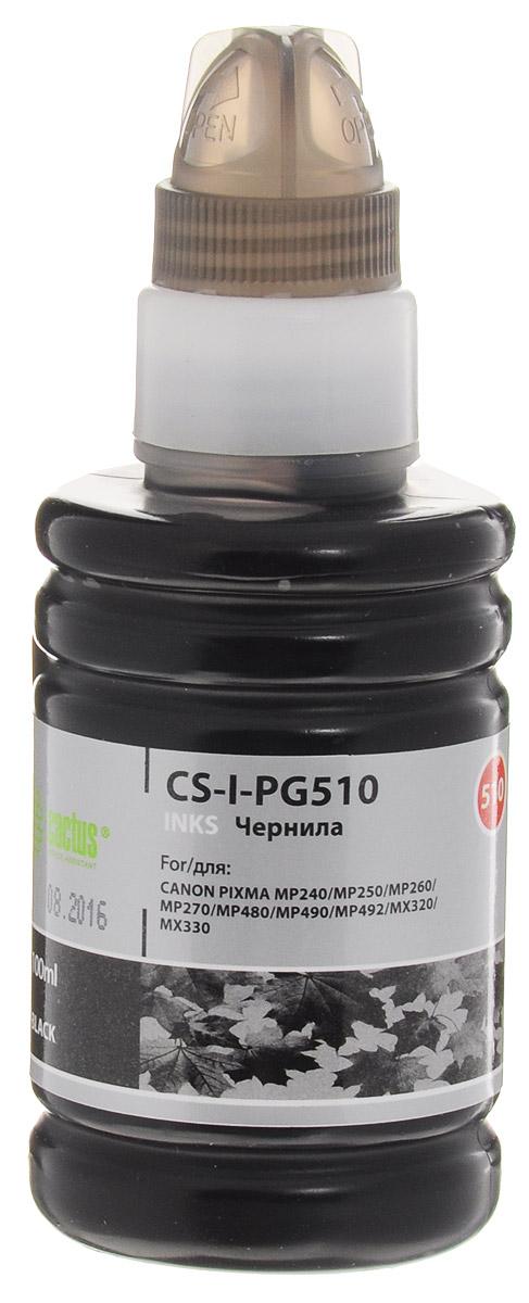 Cactus CS-I-PG510, Black чернила для для Canon Pixma MP240/ MP250/MP260/ MP270