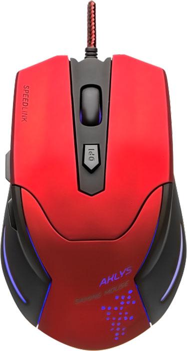 Speedlink Aklys, Black Red мышь игроваяSL-680001-BKRDИгровая мышь Speedlink Aklys создана для геймеров, которые на первое место ставят всеобъемлющую функциональность, высочайшую точность и бескомпромиссную надежность. Благодаря возможности выбора разрешения сенсора до 2000 dpi мышь можно точно настроить под свой стиль игры. Две дополнительные кнопки, удобно расположенные с левого бока мыши значительно помогут ускорить ваше время реагирования в стремительном игровом процессе. Благодаря эргономичной форме, виртуальные миры можно завоевывать часами. А возможность выбора подсветки в любом из семи цветов радуги будет приятным дополнением к внешнему виду игровой мыши Speedlink Aklys.Высокочувствительные кнопки мгновенно переносят ваши команды у игру, две дополнительные боковые кнопки можно задействовать как для выделенных игровых команд, так и для голосового чата.Надежный оптический сенсор прекрасно работает без срывов на любых поверхностях, а разрешения 2000 dpi хватит для большинства современных игр и ситуаций.Кабель в защитной тканевой оплетке поможет мышке прослужить максимально долго, даже при использовании мыши в самых жарких сражениях. Длина кабеля позволяет комфортно пользоваться мышкой, даже если системный блок ПК расположен под столом.Отдельная кнопка для переключения DPI помогает оперативно менять разрешение мыши в зависимости от игровой ситуации – обеспечьте себе высокую точность снайпера и быстрый поворот башни танка.Возможность создать нужную атмосферу на игровом месте с помощью различных цветов подсветки, помогает настроится на игру и получить от неё максимум удовольствия.Корпус мышки имеет специальное покрытие, оно обеспечивает надежный хват мыши рукой, мышь не проскальзывает в руке даже в самых жарких баталиях. Покрытие не облазит под воздействием пота и загрязнений, просто протрите мышь и она станет как новая.