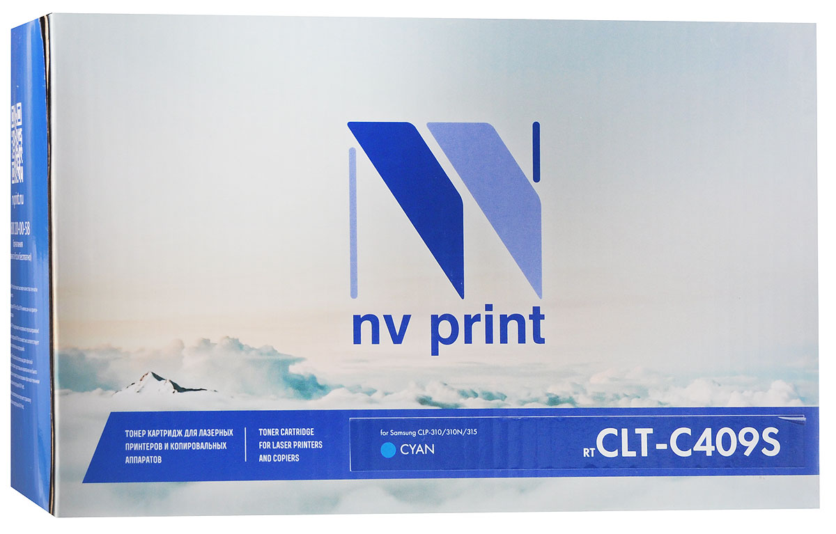 NV Print CLT-C409S, Cyan тонер-картридж для Samsung CLP-310/310N/315CLTC409SCСовместимый лазерный картридж NV Print CLT-C409S для печатающих устройств Samsung - это альтернатива приобретению оригинальных расходных материалов. При этом качество печати остается высоким.Лазерные принтеры, копировальные аппараты и МФУ являются более выгодными в печати, чем струйные устройства, так как лазерных картриджей хватает на значительно большее количество отпечатков, чем обычных. Для печати в данном случае используются не чернила, а тонер.