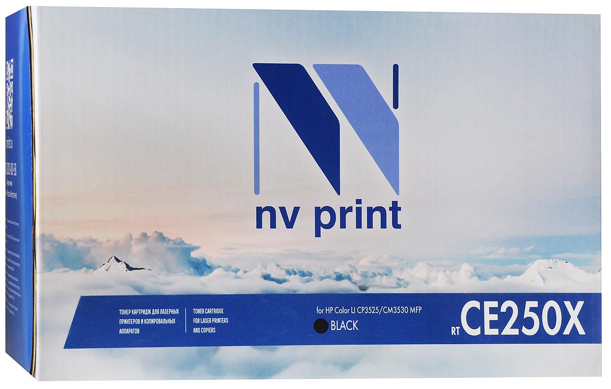NV Print CE250X, Black тонер-картридж для HP Color LaserJet CP3525/CM3530 MFPCE250XBkСовместимый лазерный картридж NV Print CE250X для печатающих устройств HP - это альтернатива приобретению оригинальных расходных материалов. При этом качество печати остается высоким.Лазерные принтеры, копировальные аппараты и МФУ являются более выгодными в печати, чем струйные устройства, так как лазерных картриджей хватает на значительно большее количество отпечатков, чем обычных. Для печати в данном случае используются не чернила, а тонер.