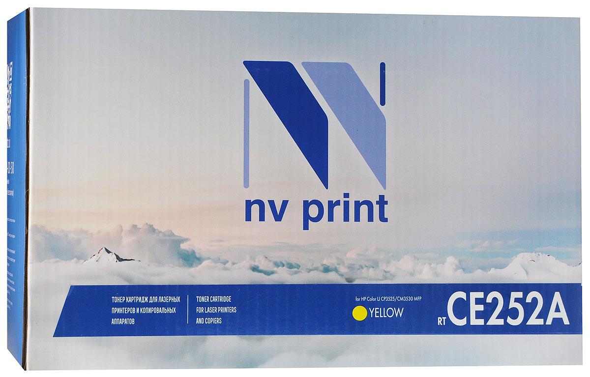 NV Print CE252A, Yellow тонер-картридж для HP Color LaserJet CP3525/CM3530 MFPCE252AYСовместимый лазерный картридж NV Print CE252A для печатающих устройств HP - это альтернатива приобретению оригинальных расходных материалов. При этом качество печати остается высоким.Лазерные принтеры, копировальные аппараты и МФУ являются более выгодными в печати, чем струйные устройства, так как лазерных картриджей хватает на значительно большее количество отпечатков, чем обычных. Для печати в данном случае используются не чернила, а тонер.