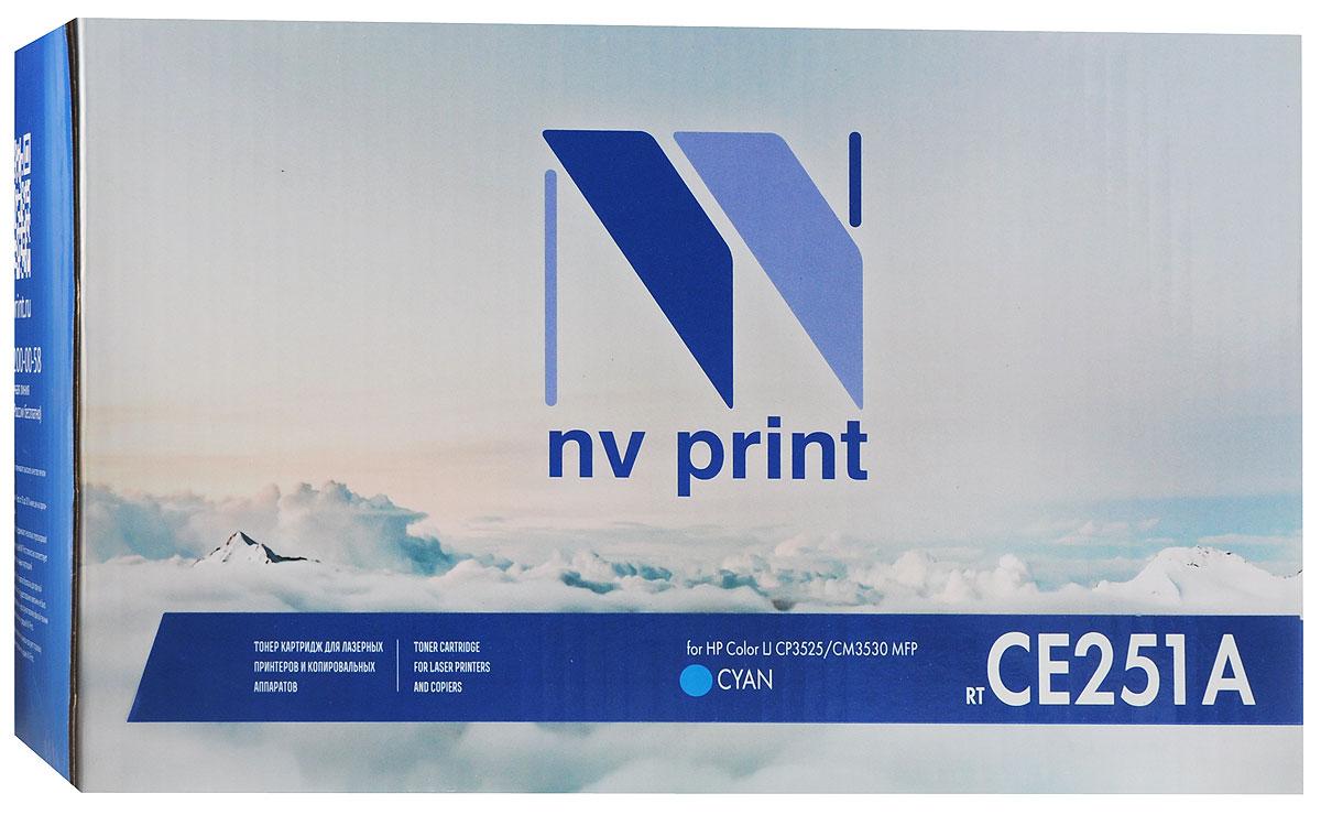 NV Print CE251A, Cyan тонер-картридж для HP Color LaserJet CP3525/CM3530 MFPCE251ACСовместимый лазерный картридж NV Print CE251A для печатающих устройств HP - это альтернатива приобретению оригинальных расходных материалов. При этом качество печати остается высоким.Лазерные принтеры, копировальные аппараты и МФУ являются более выгодными в печати, чем струйные устройства, так как лазерных картриджей хватает на значительно большее количество отпечатков, чем обычных. Для печати в данном случае используются не чернила, а тонер.