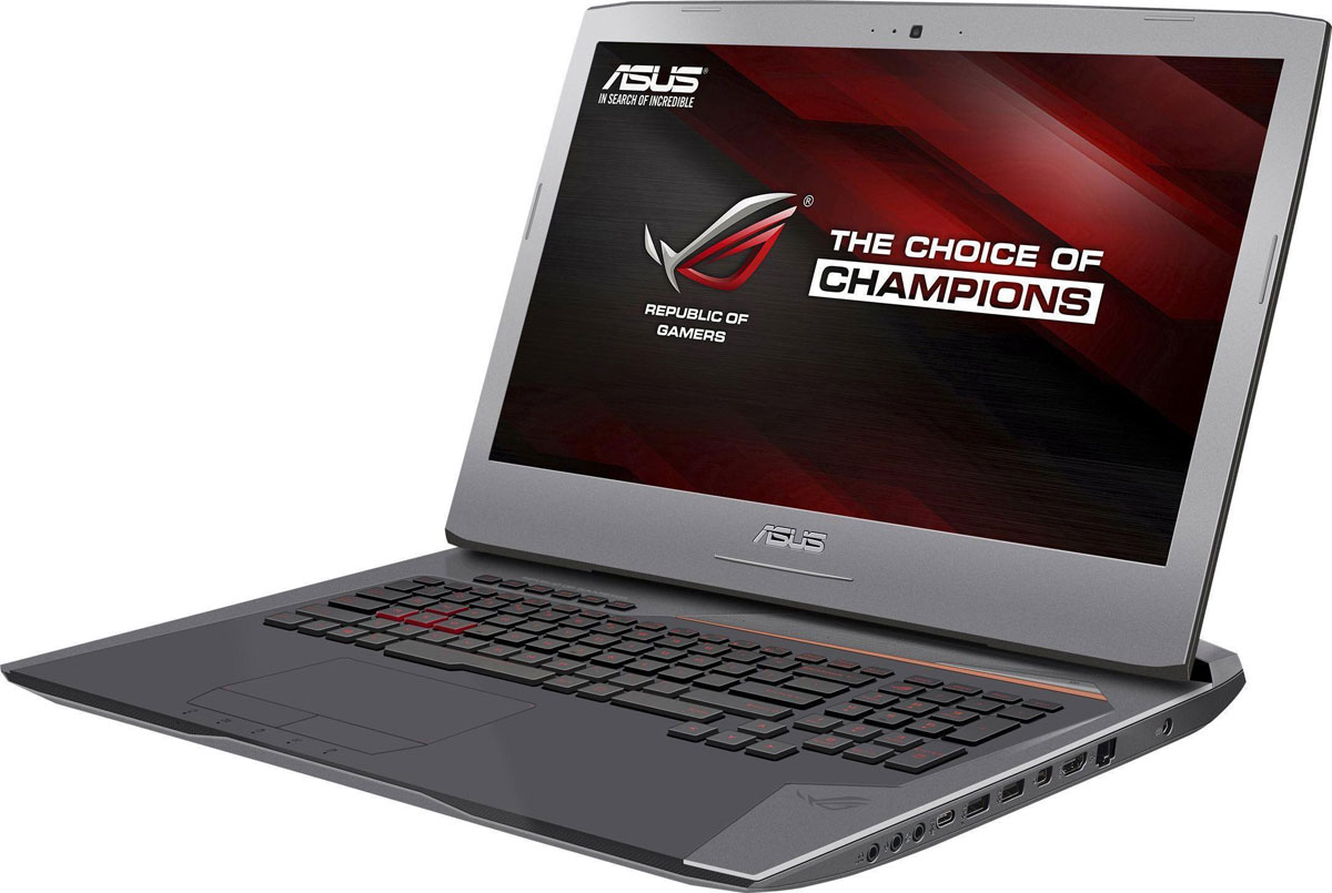 ASUS ROG G752VM (G752VM-GC030T)G752VM-GC030TAsus G752VM - новая модель в линейке геймерских ноутбуков ROG, представляющая собой вершину ее эволюции. В корпусе этого ноутбука, выполненном в темно-серебристом цветовом оформлении с медно-оранжевыми акцентами, скрываются мощные компоненты: современная видеокарта NVIDIA GeForce GTX, процессор Intel Core i7 шестого поколения и 8 гигабайт системной памяти DDR4. Все это работает под управлением операционной системы Windows 10, обеспечивая беспрецедентную скорость в компьютерных играх. Также стоит отметить эргономичную клавиатуру, способную корректно обрабатывать нажатие множества клавиш одновременно.Благодаря мощной аппаратной конфигурации, в которую входят процессор Intel Core i7 шестого поколения и видеокарта NVIDIA GeForce GTX 1060 с микроархитектурой Pascal, ноутбук ROG G752VM позволит насладиться компьютерными играми с максимальным комфортом.Видеокарта NVIDIA GeForce GTX 1060 предлагает полную совместимость с современными системами виртуальной реальности и высокую производительность, необходимую для их надлежащей работы.Как и другие модели серии ROG, G752VM обладает высокоэффективной системой охлаждения. В ее состав входят два кулера для центрального и графического процессоров, выдувающие горячий воздух сквозь вентиляционные решетки в задней части корпуса, поэтому верхняя панель ноутбука остается комфортно прохладной при любых условиях работы.В системе охлаждения ROG G752VM имеется специальный пылеотвод, который помогает предотвратить попадание пыли к внутренним компонентам. Такое решение продлевает срок службы всего устройства.Клавиатура ноутбука ROG G752VM может похвастать продуманной эргономикой и прекрасно обрабатывает одновременное нажатие множества клавиш - до 30 одновременно! Кроме того, у нее имеются пять дополнительных кнопок, которые программируются на выполнение серий команд (макросов). Прочная и эргономичная (глубина хода клавиш - 2,5 мм), эта клавиатура оснащается подсветкой, которая позволит с комфортом и