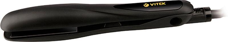 Vitek VT-8402 BK выпрямитель для волосVT-8402(BK)Выпрямитель для волос Vitek VT-8402 BK справится даже с самым непослушными волосами. Данная модель оснащена качественным керамическим турмалиновым покрытием пластин. Выпрямитель прост в использовании благодаря стильному эргономичному дизайну.Защита от перегреваИндикация включенияРазмер пластин: 90 мм х 30 мм