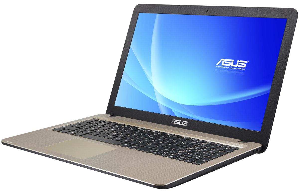 ASUS VivoBook X540SA, Chocolate Black (X540SA-XX032D)X540SA-XX032DСерия VivoBook X540 - это современные ноутбуки для ежедневного использования как дома, так и в офисе. Их мощная аппаратная конфигурация, в которую входит современный процессор Intel, обеспечит высокую скорость работы любых приложений.Для быстрого обмена данными с периферийными устройствами VivoBook X540SA предлагает высокоскоростной порт USB 3.1 (5 Гбит/с), выполненный в виде обратимого разъема Type-C. Его дополняют традиционные разъемы USB 2.0 и USB 3.0. В число доступных интерфейсов также входят HDMI и VGA, которые служат для подключения внешних мониторов или телевизоров, и разъем проводной сети RJ-45. Кроме того, у данной модели имеется кард-ридер формата SD/SDHC/SDXC.Благодаря эксклюзивной аудиотехнологии SonicMaster встроенная аудиосистема ноутбука VivoBook X540SA может похвастать мощным басом, широким динамическим диапазоном и точным позиционированием звуков в пространстве. Кроме того, ее звучание можно гибко настроить в зависимости от предпочтений пользователя и окружающей обстановки.Круглые динамики с большими резонансными камерами (19,4 куб. см) обеспечивают улучшенную передачу низких частот и пониженный уровень шумов.Ноутбук VivoBook X540SA выполнен в прочном, но легком корпусе весом всего 1,9 кг, поэтому он не будет обременять своего владельца в дороге, а привлекательный дизайн и красивая отделка корпуса превращают его в современный, стильный аксессуар.В ноутбуке VivoBook X540SA реализована разработанная специалистами ASUS технология Splendid, позволяющая выбрать один из нескольких предустановленных режимов работы дисплея, каждый из которых оптимизирован под определенные приложения: режим Vivid подходит для просмотра фотографий и фильмов, режим Normal - для обычной работы в офисных приложениях, а в специальном режиме Eye Care реализована фильтрация синей составляющей видимого спектра для повышения комфорта при чтении с экрана. Кроме того, имеется режим Manual, в котором параметры цветоперед