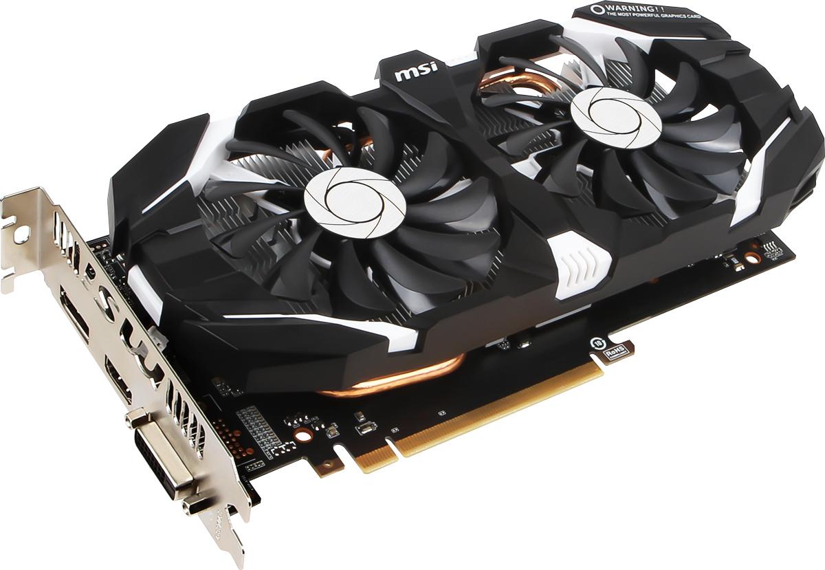 MSI GeForce GTX 1060 3GT OC 3GB видеокартаGTX 1060 3GT OCMSI GeForce GTX 1060 3GT OC демонстрирует наивысшую производительность и поддерживает передовые технологии NVIDIA GameWorks и GeForce Experience в самых современных компьютерных играх.Видеокарта GTX 1060 на основе графического ядра Pascal демонстрирует высочайшую производительность и энергоэффективность, а такие особенности как, ультра-быстрые транзисторы FinFET и поддержка DirectX 12, способствуют плавному геймплею и высокой скорости в играх.Ядро Pascal разработано специально для работы с дисплеями следующего поколения, включая решения для виртуальной реальности, ультра-высокое разрешение и подключение нескольких мониторов. Технологии NVIDIA GameWorks обеспечивают максимально плавный геймплей и кинематографическое качество. Кроме этого, становится возможным осуществлять захват видео с революционно новыми возможностями - углом обзора 360 градусов.Откройте для себя новое поколение виртуальной реальности, минимальные задержки и plug-and-play совместимость с самыми популярными гарнитурами. Все это становится возможным благодаря технологиям NVIDIA VRWorks. Виртуальный звук, физика и ощущения позволят вам слышать и чувствовать каждый момент.Два вентилятора на видеокарте MSI GeForce GTX 1060 3GT OC покрывают большую площадь радиатора и делают более эффективным рассеяние тепла.Одним из определяющих факторов в вопросе высокой производительности является качество используемых компонентов. Вот почему MSI в своей видеокарте GeForce GTX 1060 3GT OC использует электронные компоненты, сертифицированные по стандарту MIL-STD-810G. Доказано, что только эти компоненты имеют высокий уровень надежности, достаточный для работы в жестких условиях экстремальных, игровых нагрузок и при разгоне в течение продолжительного времени использования.Специальные конденсаторы Hi-c CAP обеспечивают стабильное питание графического процессора и способствуют высоким показателям при разгоне. Используемые твердотельные конденсаторы имеют экстремальн