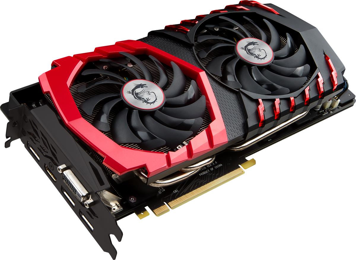 MSI GeForce GTX 1080 Gaming X 8GB видеокартаGTX 1080 GAMING X 8GMSI GeForce GTX 1080 Gaming X демонстрирует наивысшую производительность и поддерживает передовые технологии NVIDIA GameWorks и GeForce Experience в самых современных компьютерных играх.Видеокарта GTX 1080 на основе графического ядра Pascal демонстрирует высочайшую производительность и энергоэффективность, а такие особенности как, ультра-быстрые транзисторы FinFET и поддержка DirectX 12, способствуют плавному геймплею и высокой скорости в играх.Ядро Pascal разработано специально для работы с дисплеями следующего поколения, включая решения для виртуальной реальности, ультра-высокое разрешение и подключение нескольких мониторов. Технологии NVIDIA GameWorks обеспечивают максимально плавный геймплей и кинематографическое качество. Кроме этого, становится возможным осуществлять захват видео с революционно новыми возможностями - углом обзора 360 градусов.Откройте для себя новое поколение виртуальной реальности, минимальные задержки и plug-and-play совместимость с самыми популярными гарнитурами. Все это становится возможным благодаря технологиям NVIDIA VRWorks. Виртуальный звук, физика и ощущения позволят вам слышать и чувствовать каждый момент.Как и в играх, эксклюзивная технология MSI TORX 2.0 использует командный подход, позволяя TWIN FROZR VI достигать новых вершин охлаждения. Вентилятор TORX 2.0 производит на 22% более мощный воздушный поток, оставаясь при этом практически бесшумным.Дисперсионные лопасти вентилятора имеют более крутой профиль, что способствует большему ускорению воздушного потока, увеличивая эффективность охлаждения. Традиционные лопасти вентилятора создают постоянный поток и направляют его на массивный радиатор охлажденияДвухрядные подшипники обеспечивают вентиляторам MSI TORX 2.0 продолжительный срок эксплуатации, гарантируя беспроблемный гейминг в течение многих. Работая под нагрузкой, вентиляторы остаются практическими бесшумными. Это позволяет видеокарте оставаться холодной даже во в