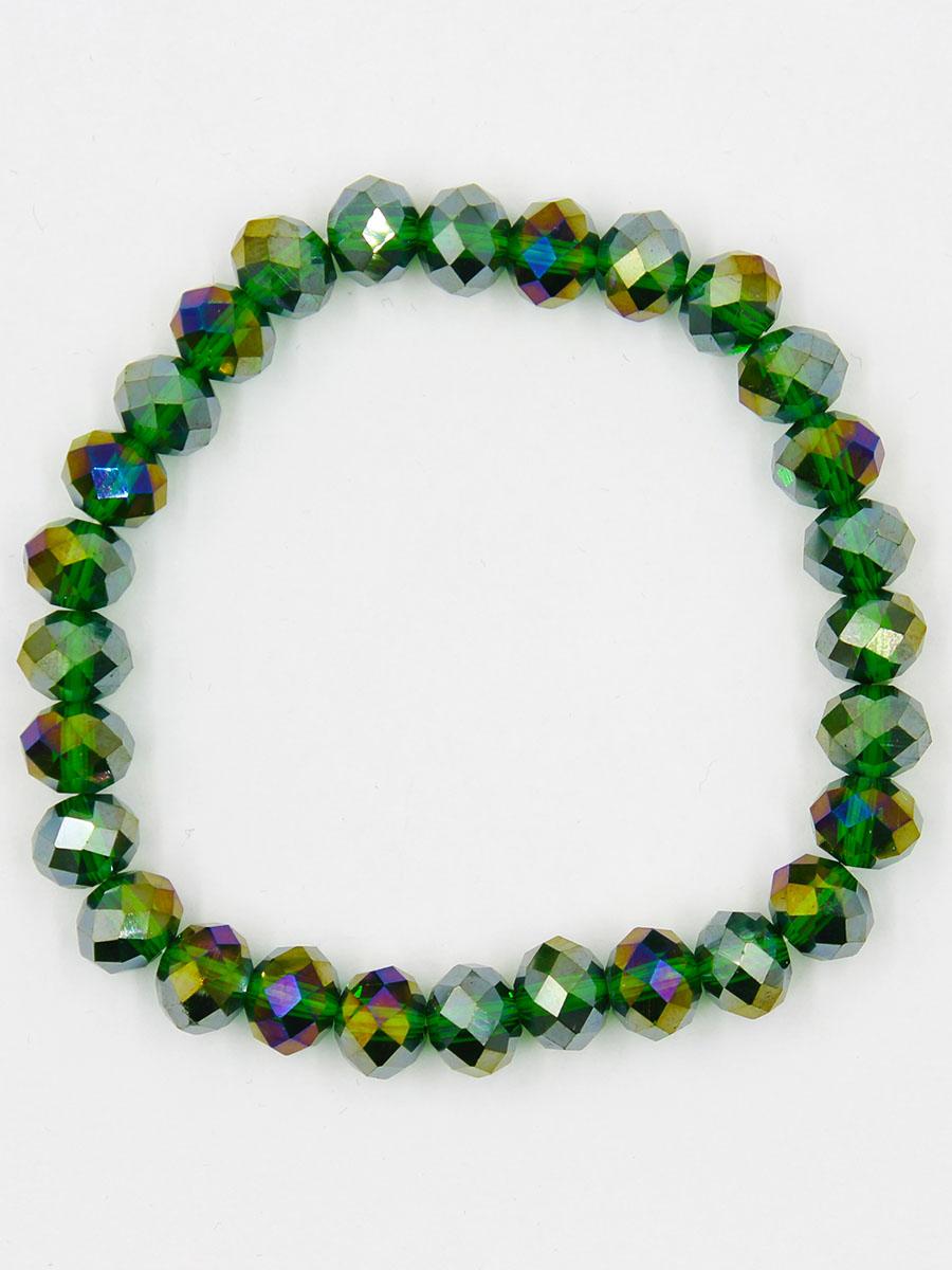 Браслет Taya, цвет: зеленый. T-B-11778-BRAC-GREENБраслет для шармовСтильный браслет Taya выполнен из однотонных кристаллов. Элементы браслета соединены с помощью тонкой резинки, благодаря этому он легко одевается и снимается. Размер браслета универсальный.